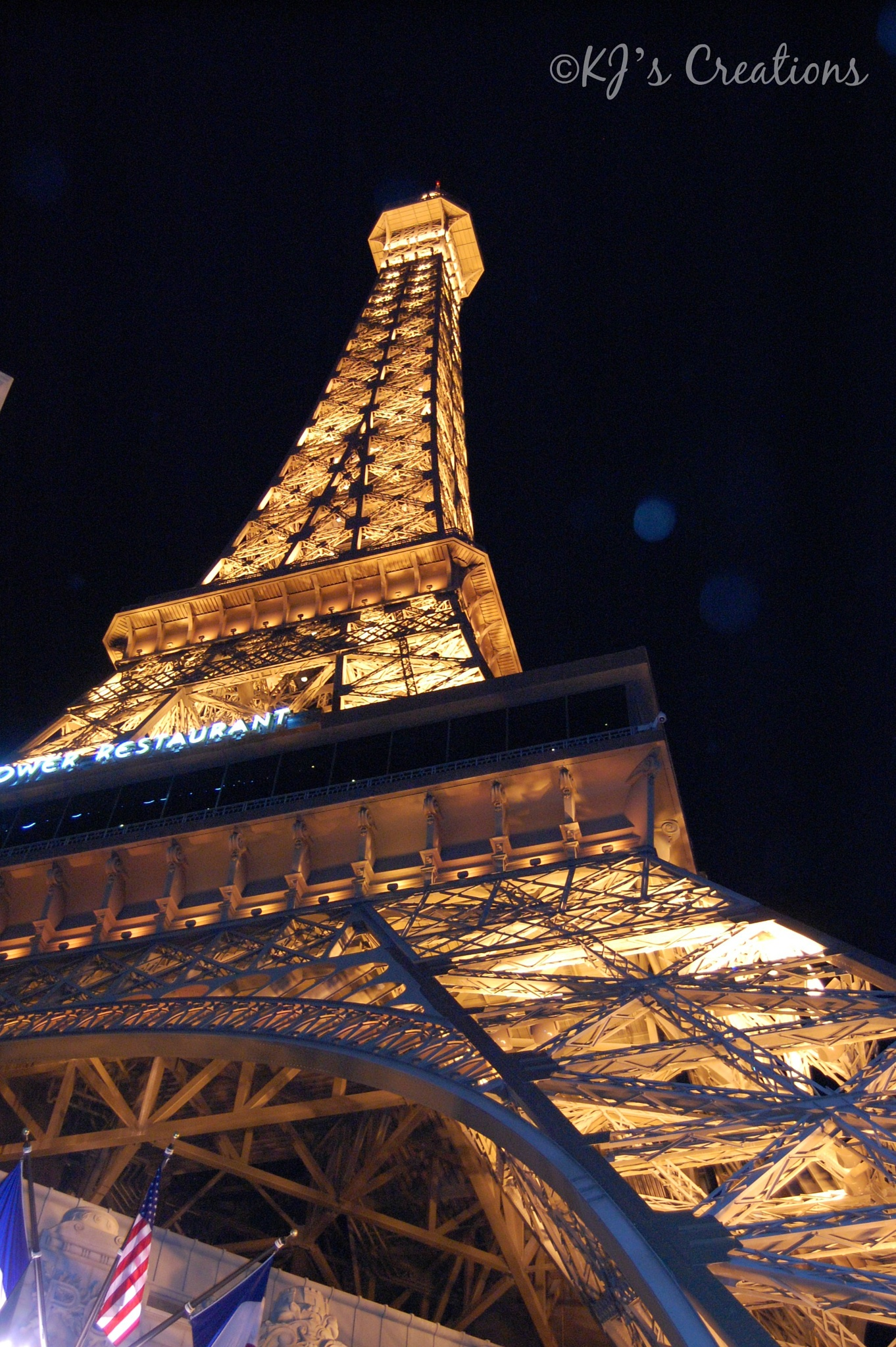 Vegas Eiffel-from below by kristin j clevenger