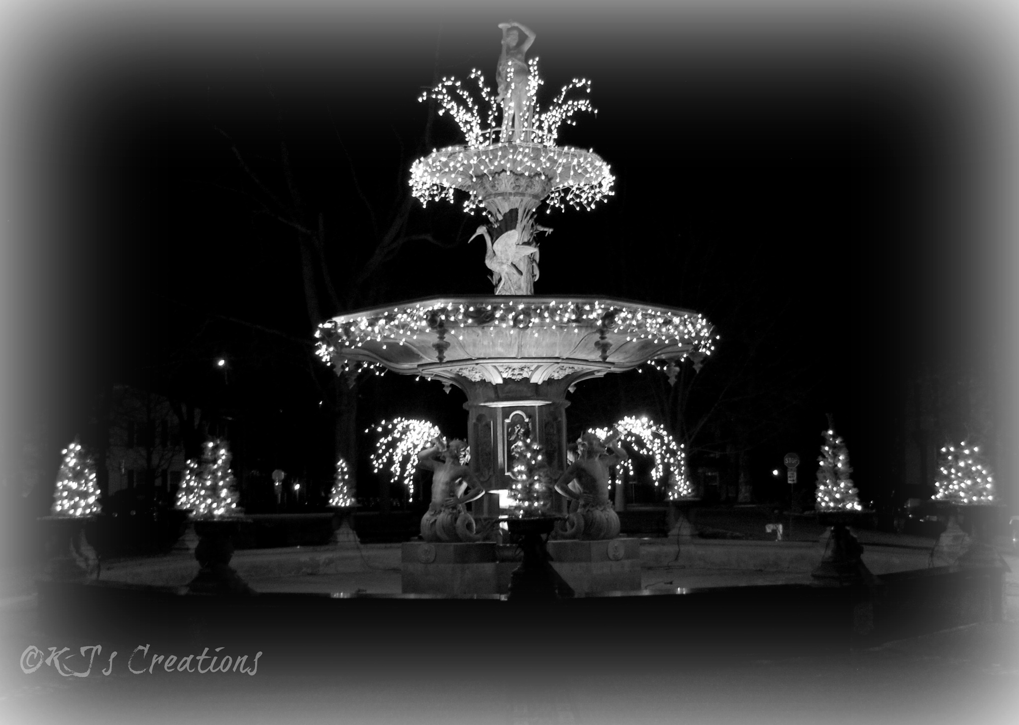 Fountain in full-b/w by kristin j clevenger