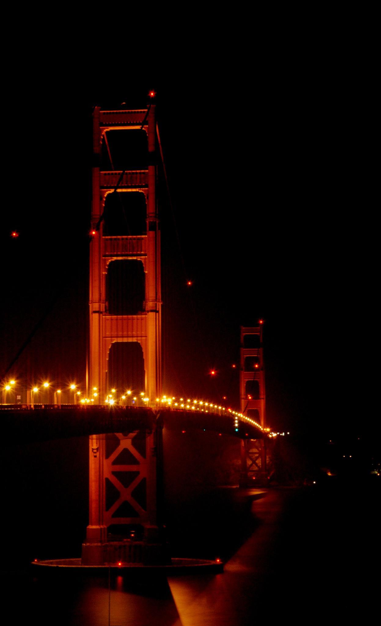 Golden Gate Bridge - View From El Presidio by Rogelio Flores