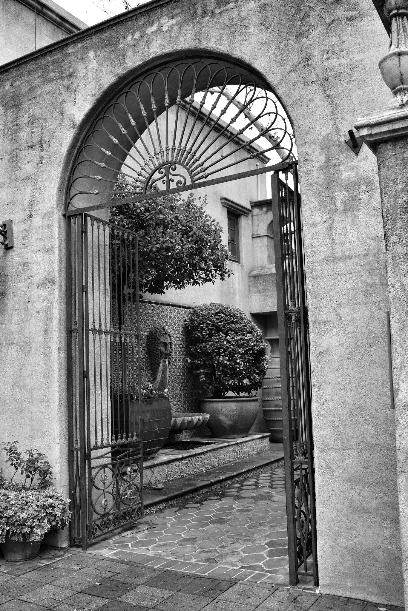 Courtyard entrance  by Andy Dilling