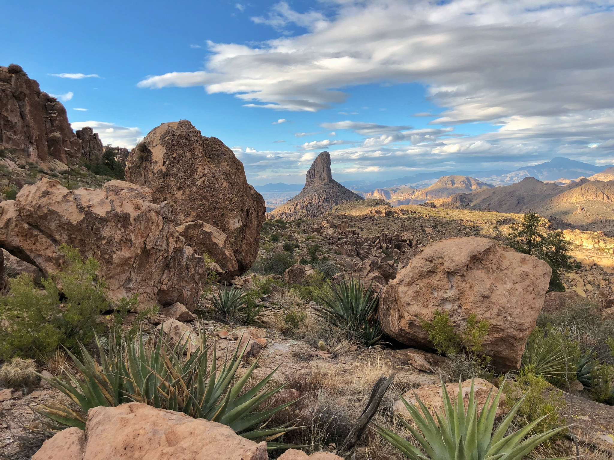 Weavers Needle from Dacite Mesa by Andy Dilling