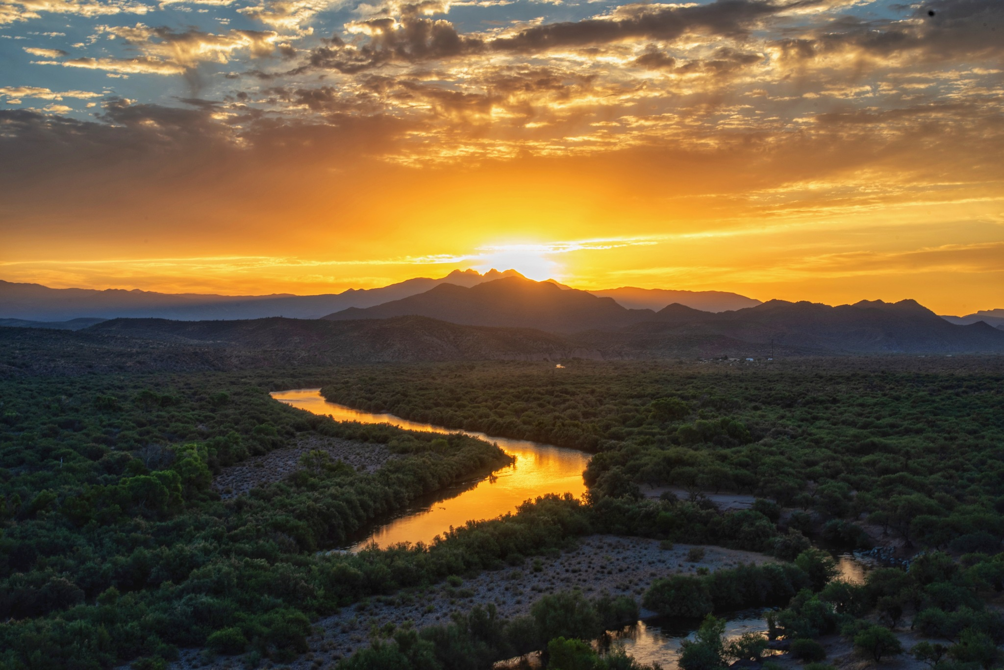 Coon Bluff Sunrise by Andy Dilling