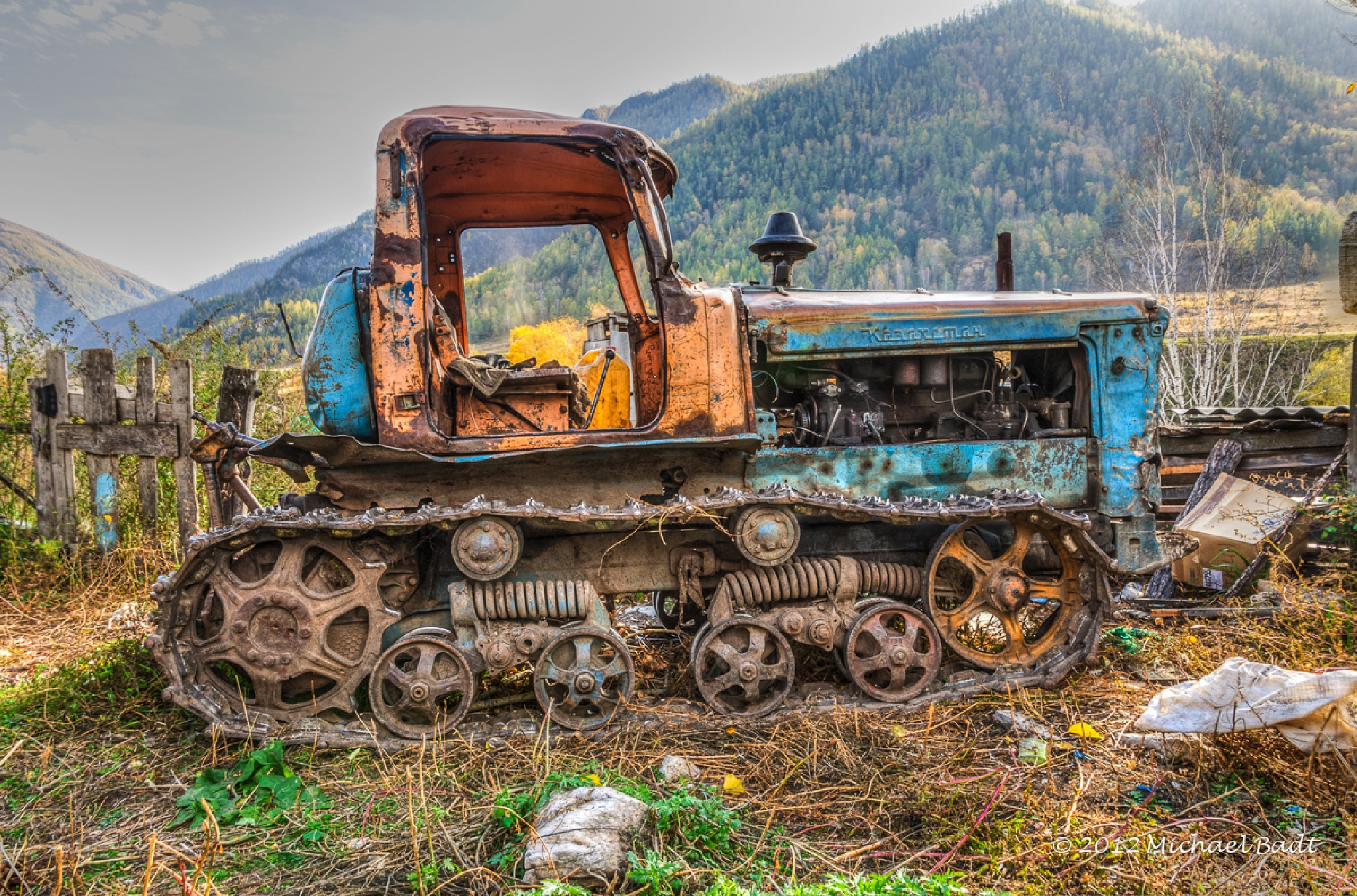 The old tractor by mibadt