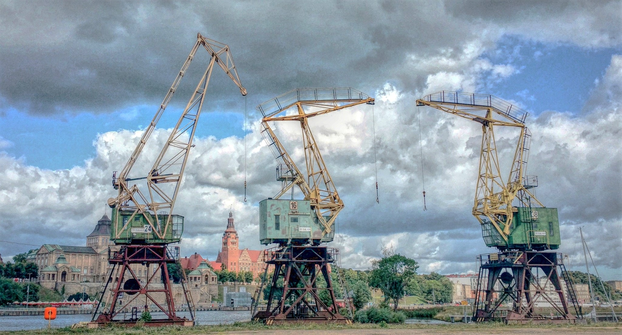 Cranes by Adam Wyciszkiewicz