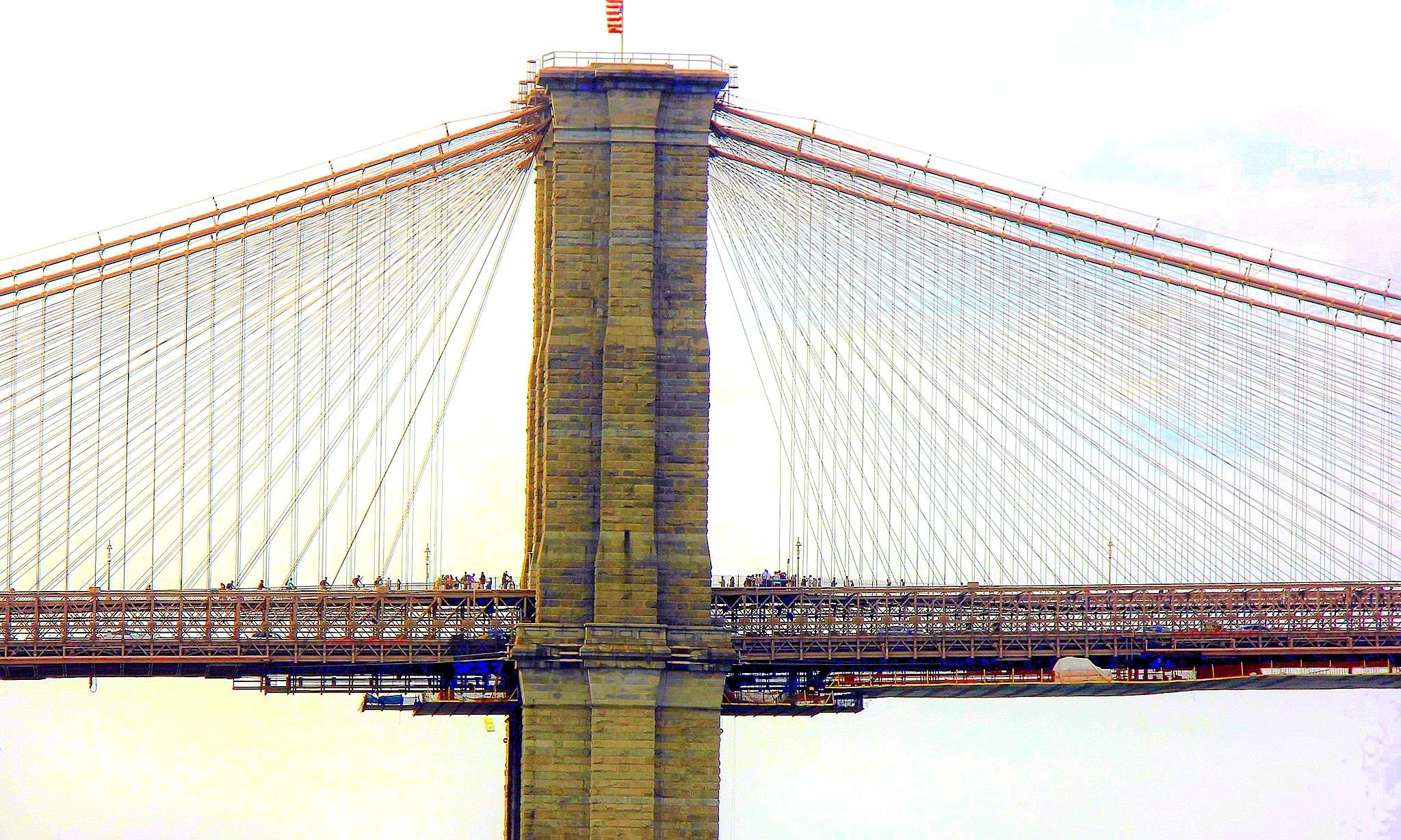 Brooklyn bridge by Adam Wyciszkiewicz