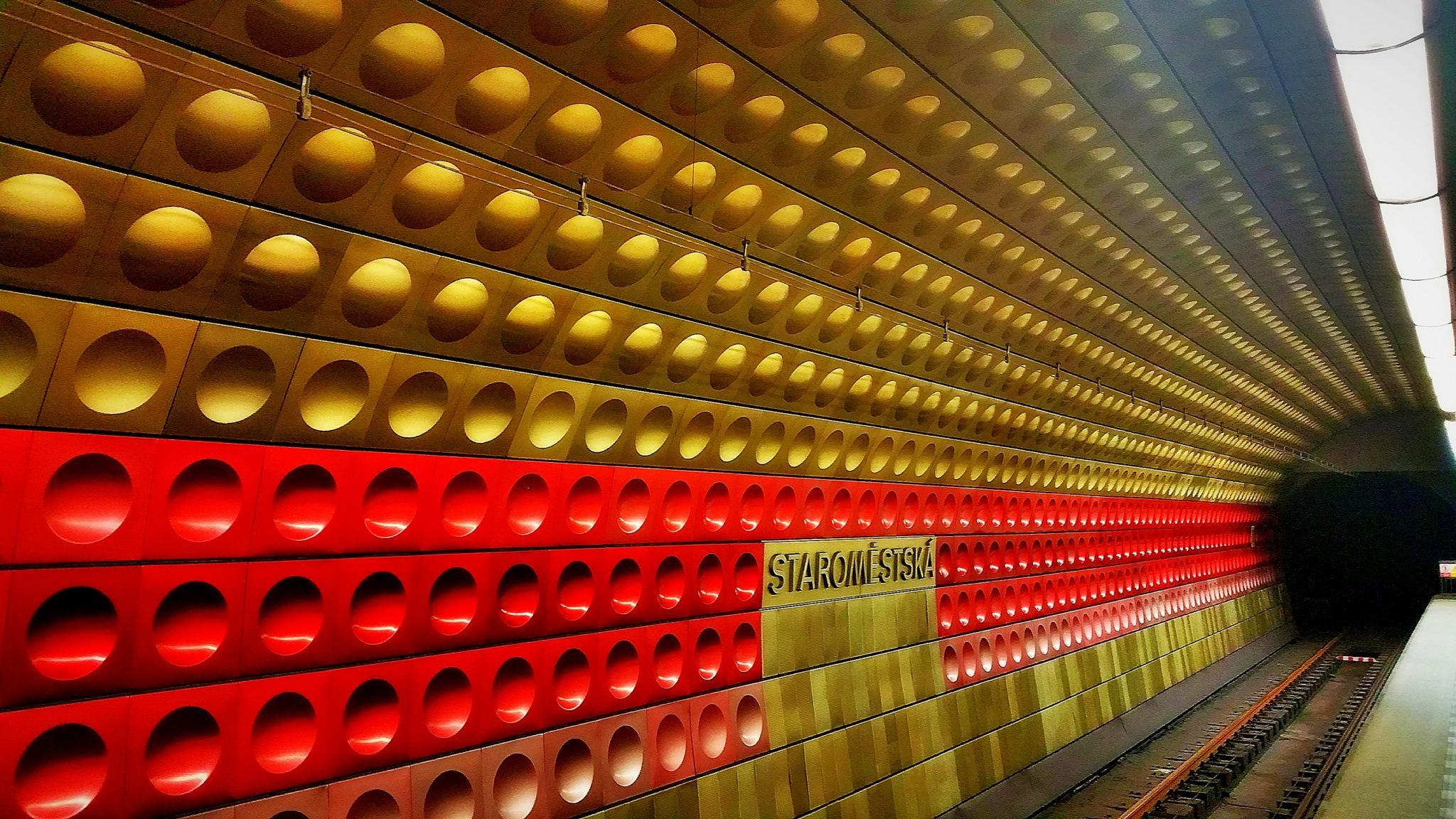 Prague Underground station by Adam Wyciszkiewicz