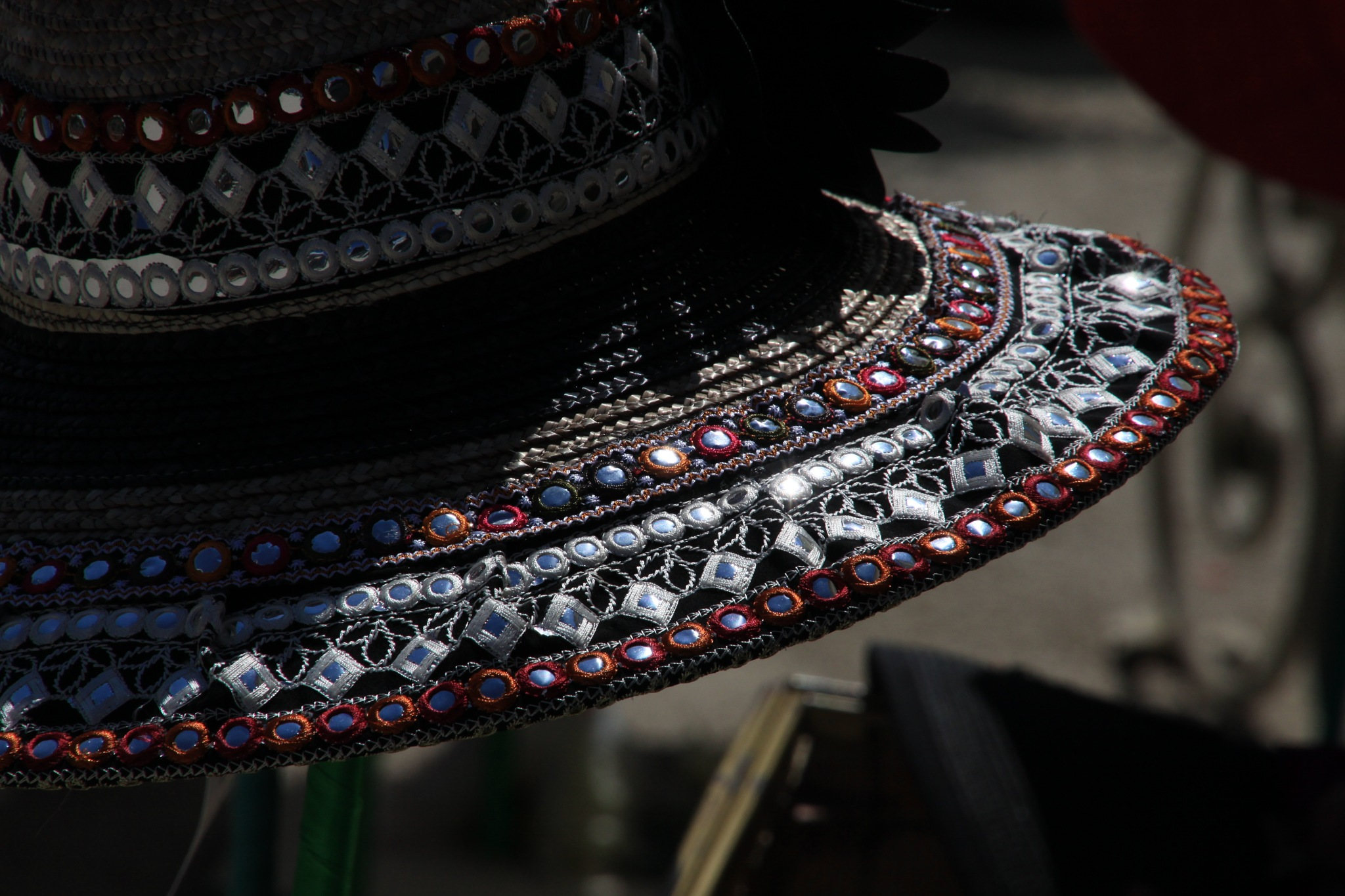 Embroidered Hat by Massimo Capri