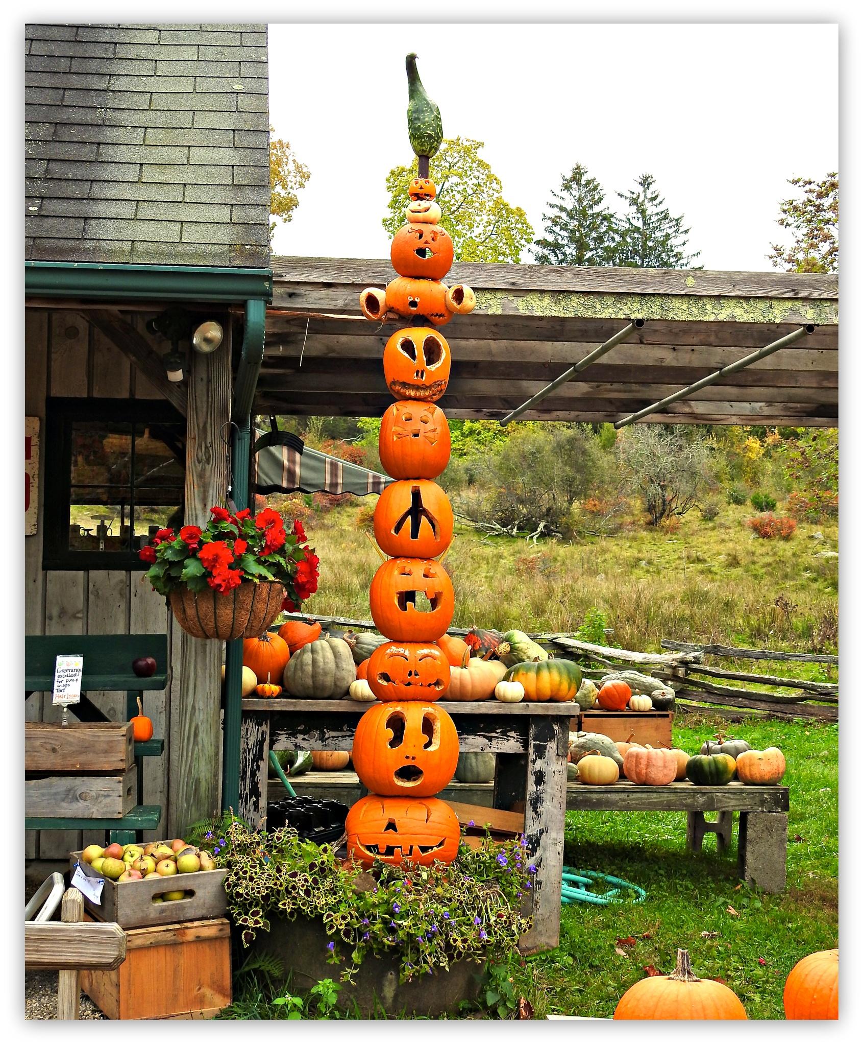 Pumpkin Totem by Dana Wiehl