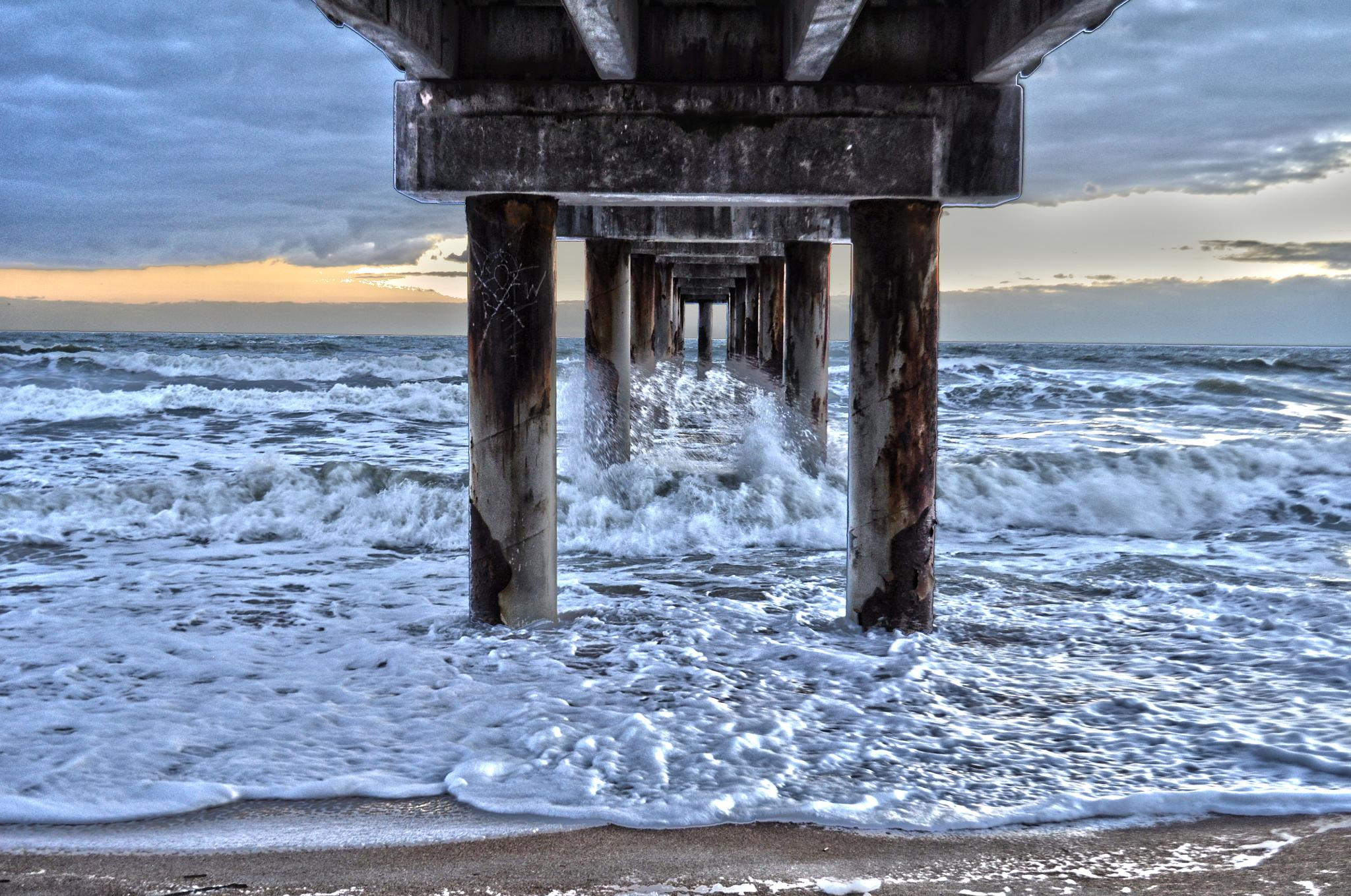 Under the pier by pamsheedy