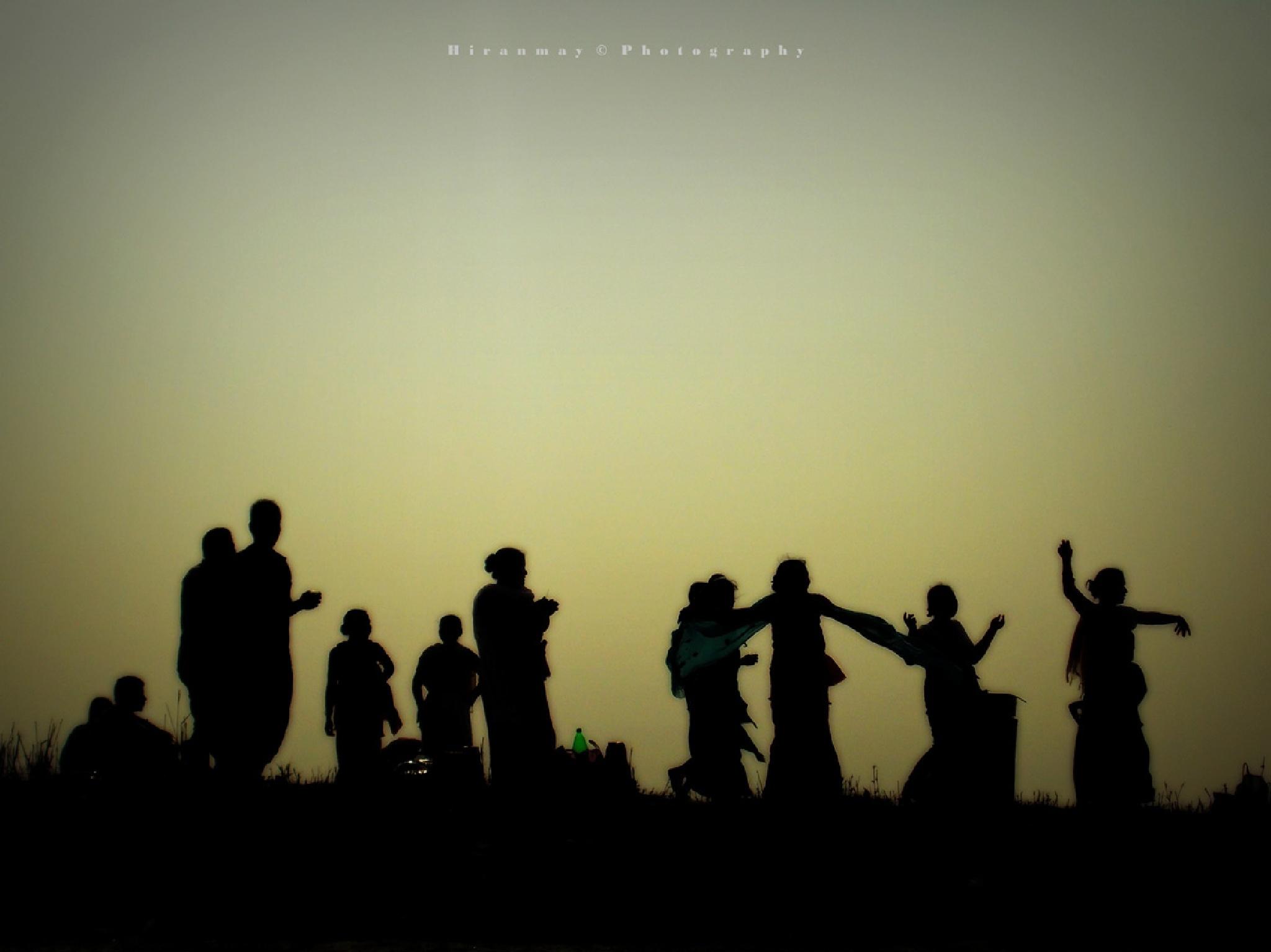Celebration on the sunset by Hiranmay Basumatary