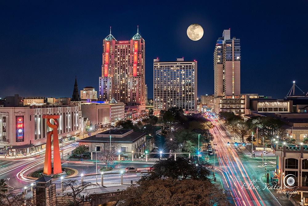 San Antonio Skyline by Ellen Yeates