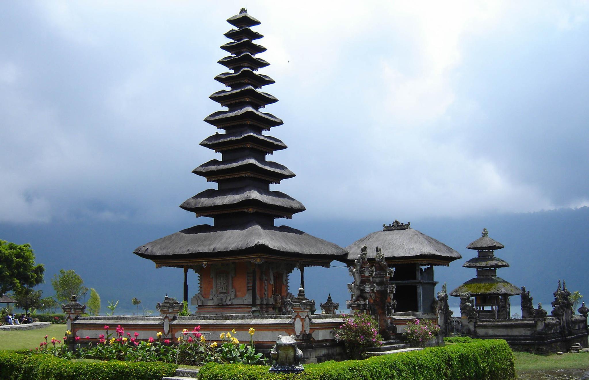 Balinese Temple in the Breaking Fog by jill.friedman.395