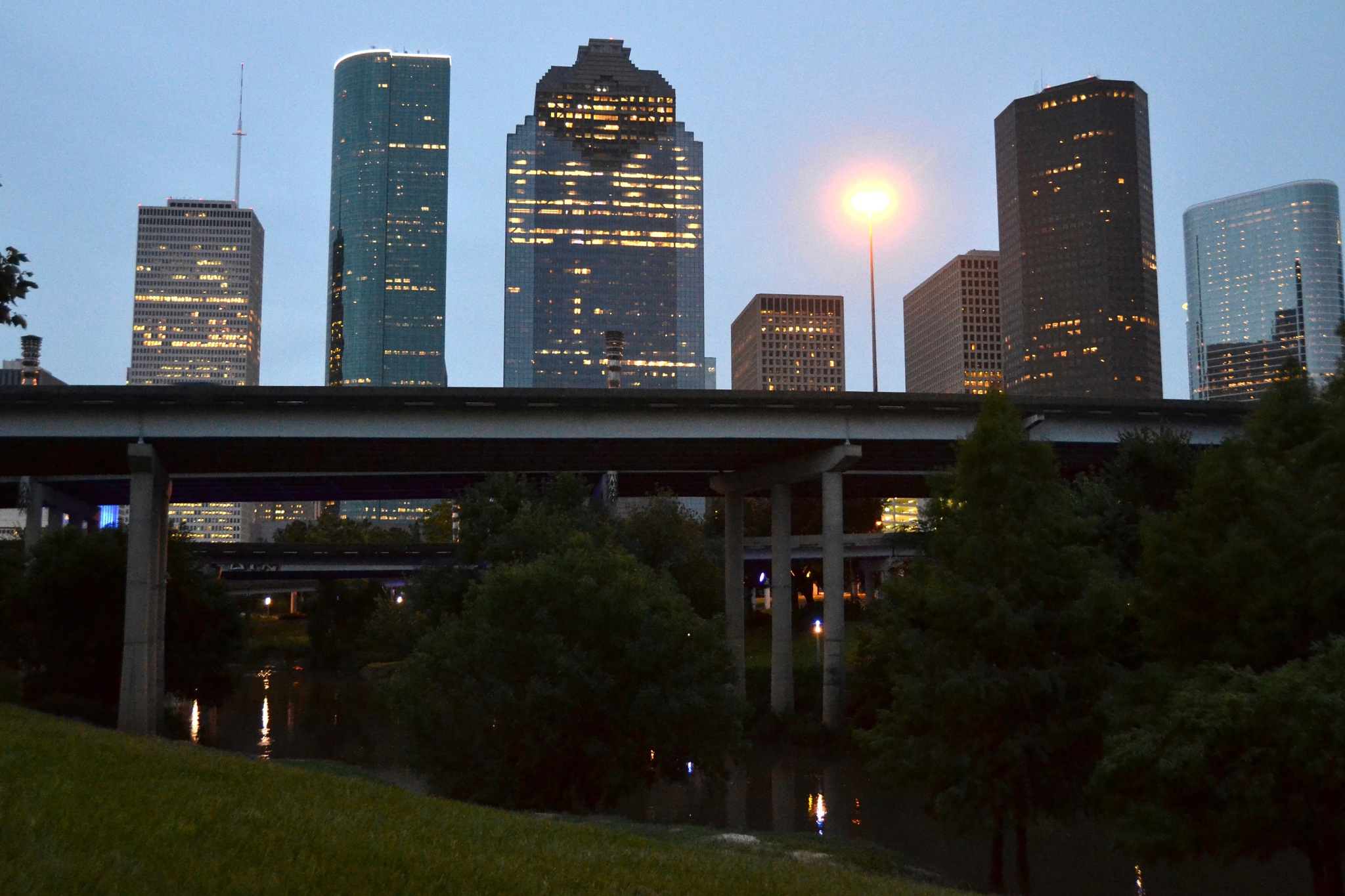 Houston, Texas at sunset by Alma