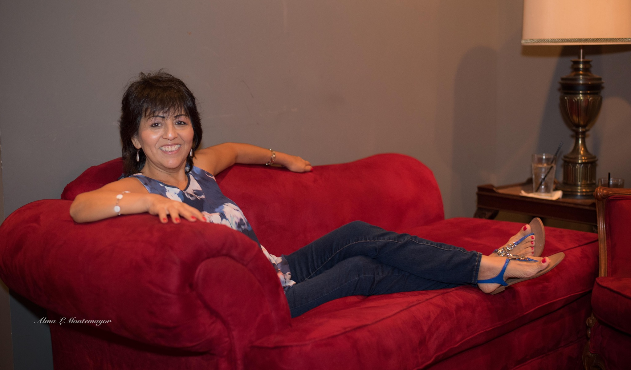 Red Chaise by Alma