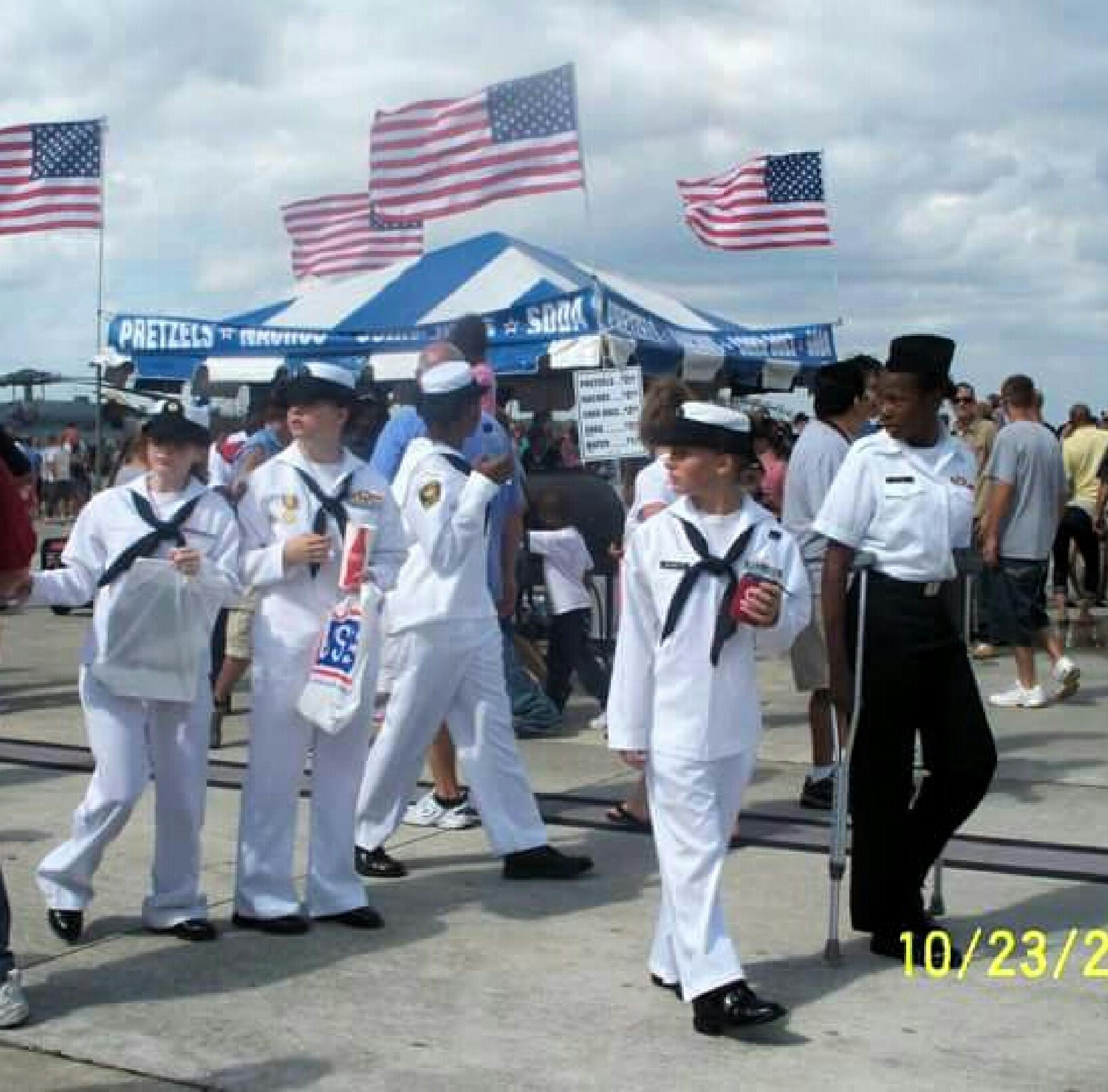 Photo in People #nas jacksonville air show #blue angels #navy cadets