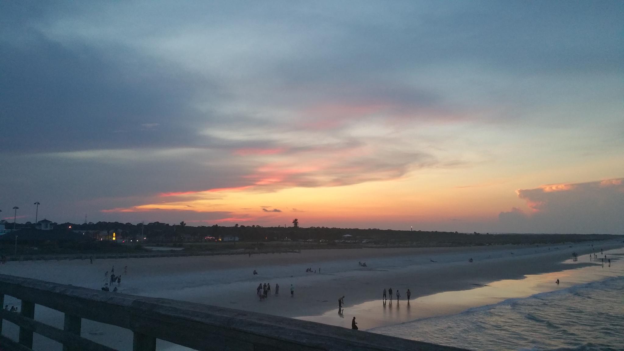 St. Augustine Beach Sunset by aida.carpena