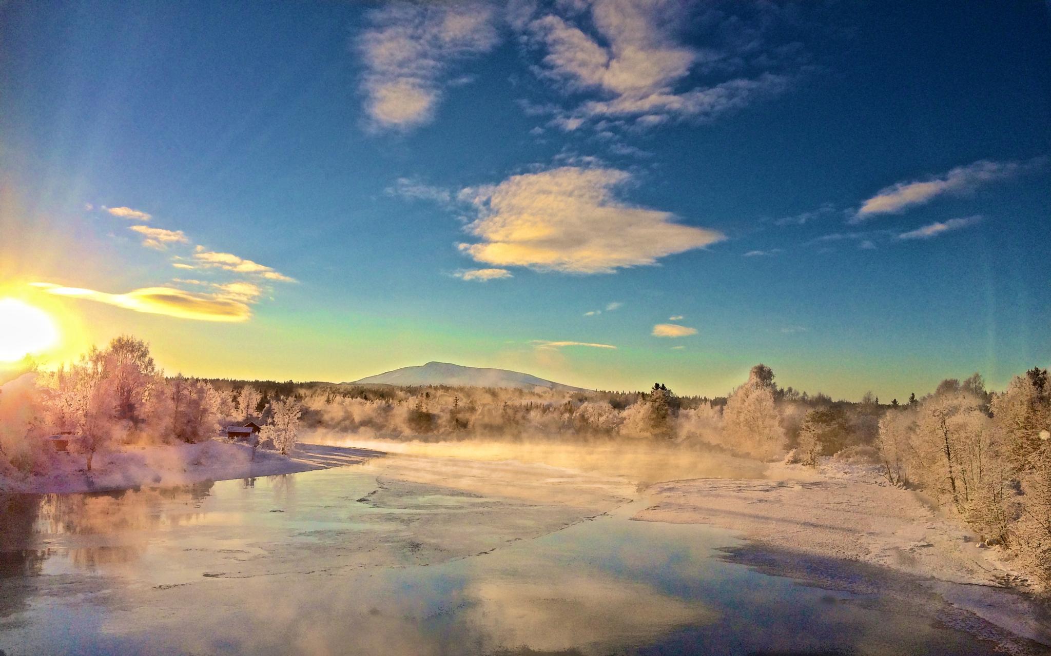 Winter lake by gunilla.westlund.Photos
