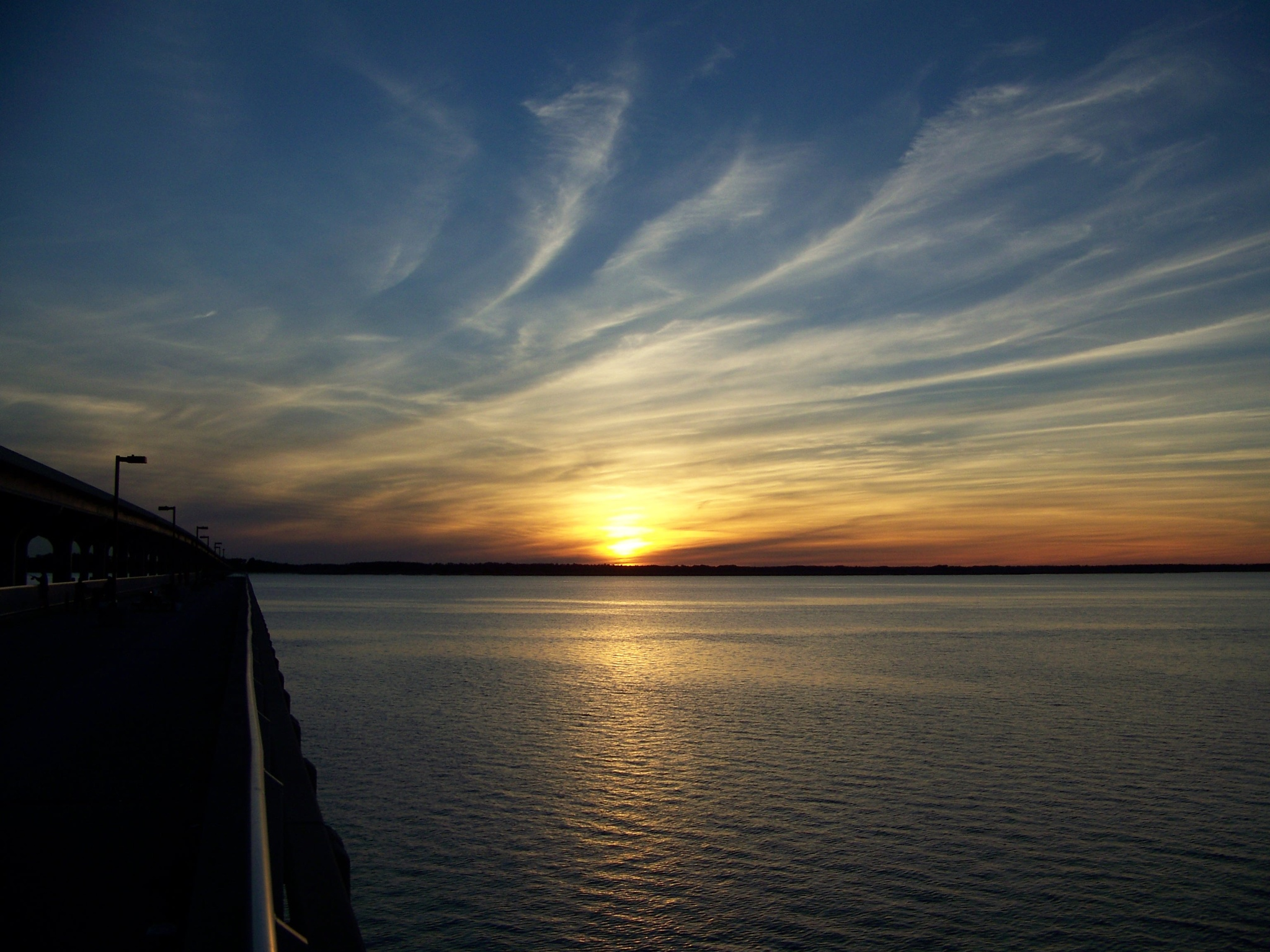 Sunset View from Broad River Pier by Jennifer Prinz