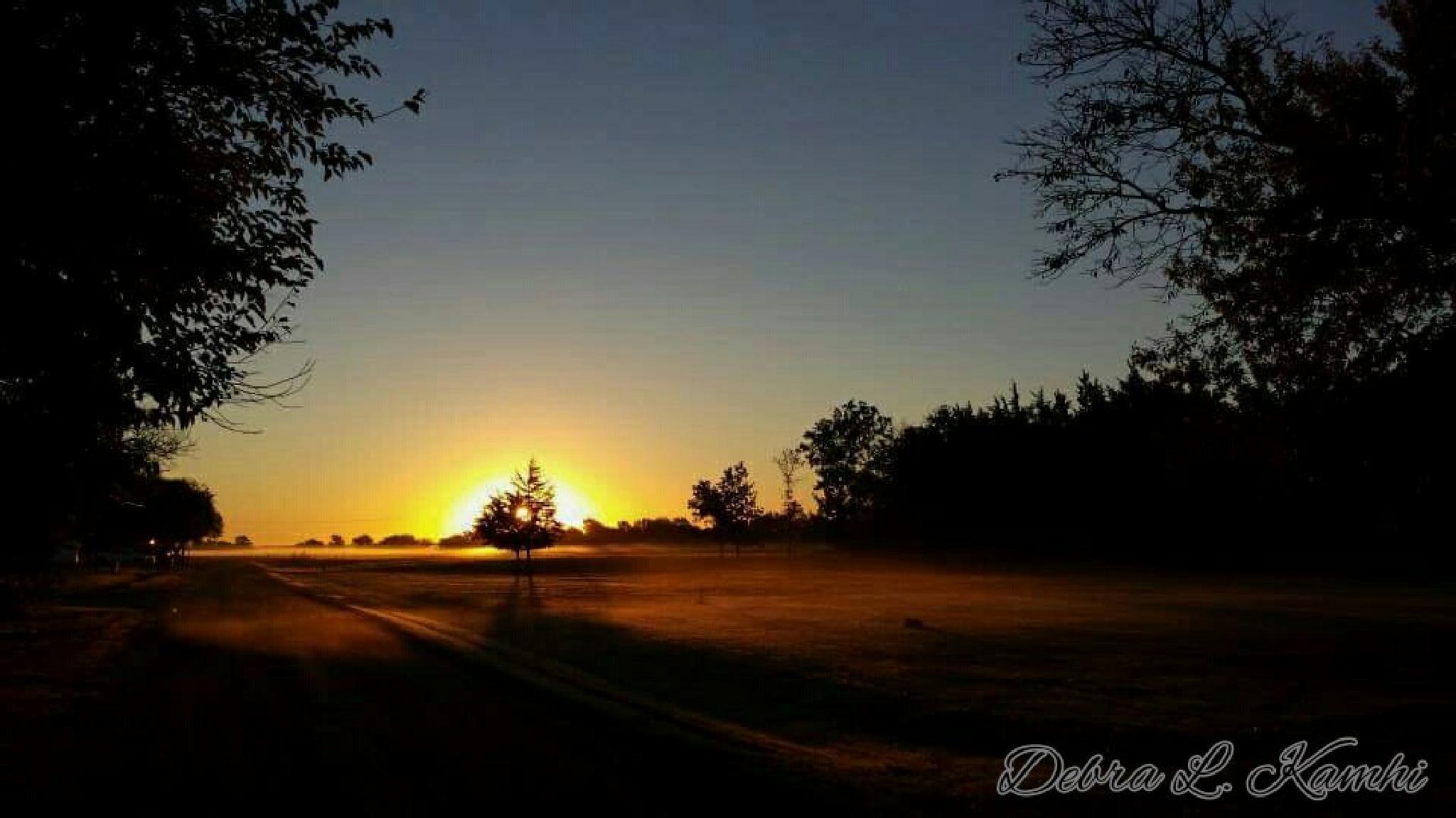 Dirt Road Sunrise by debra.kamhi