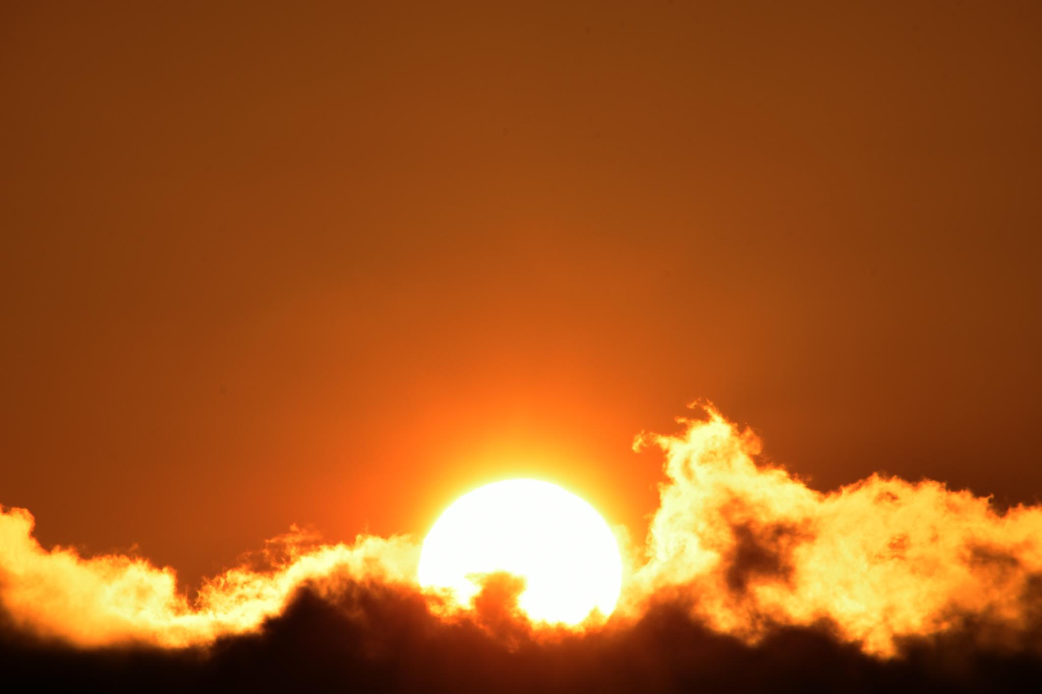 Sunset Behind the Fog by Gerard Francis Corbett