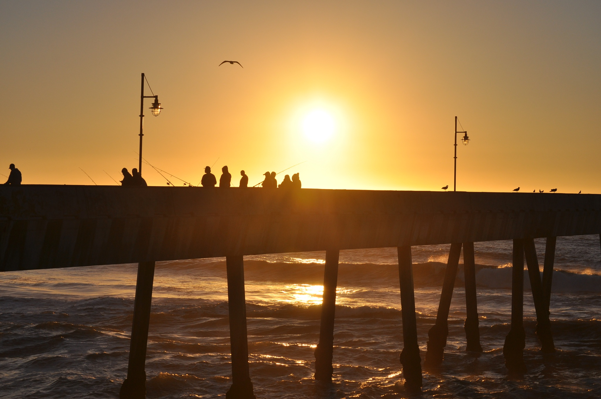 Sunset at Pacifica Pier by Gerard Francis Corbett