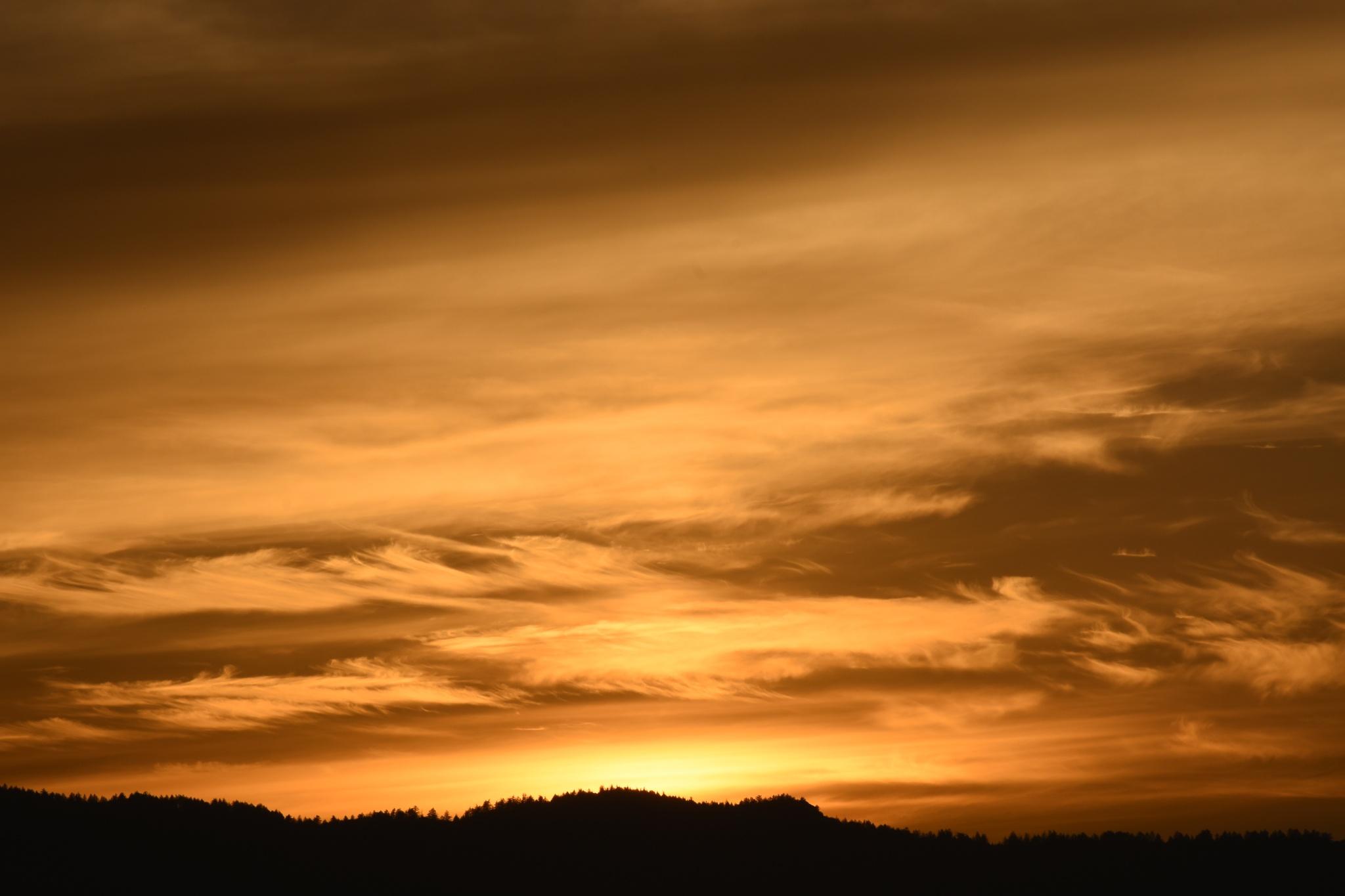 Sunset over the Western Ridge by Gerard Francis Corbett