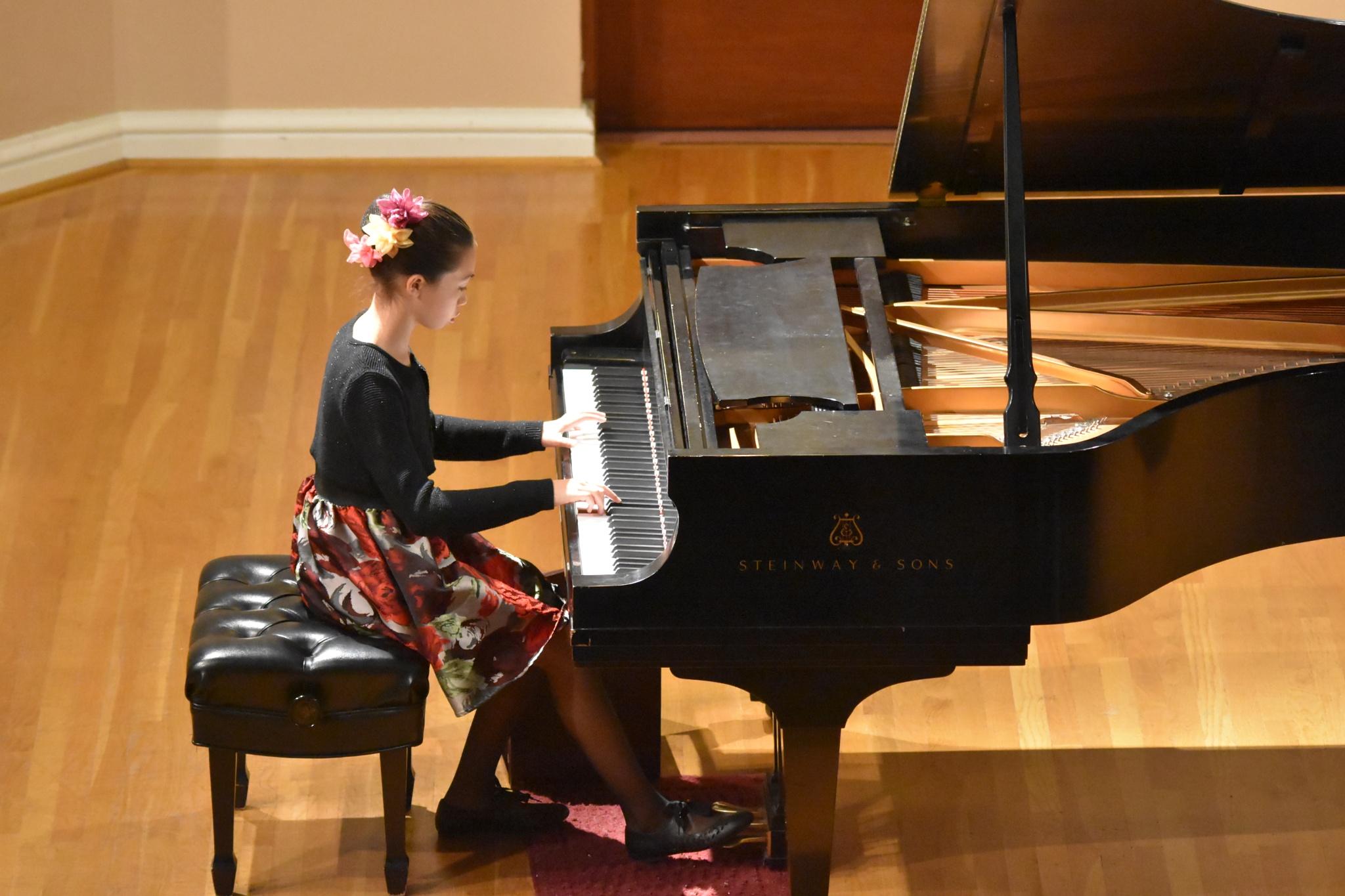 Francesca at the Piano by Gerard Francis Corbett