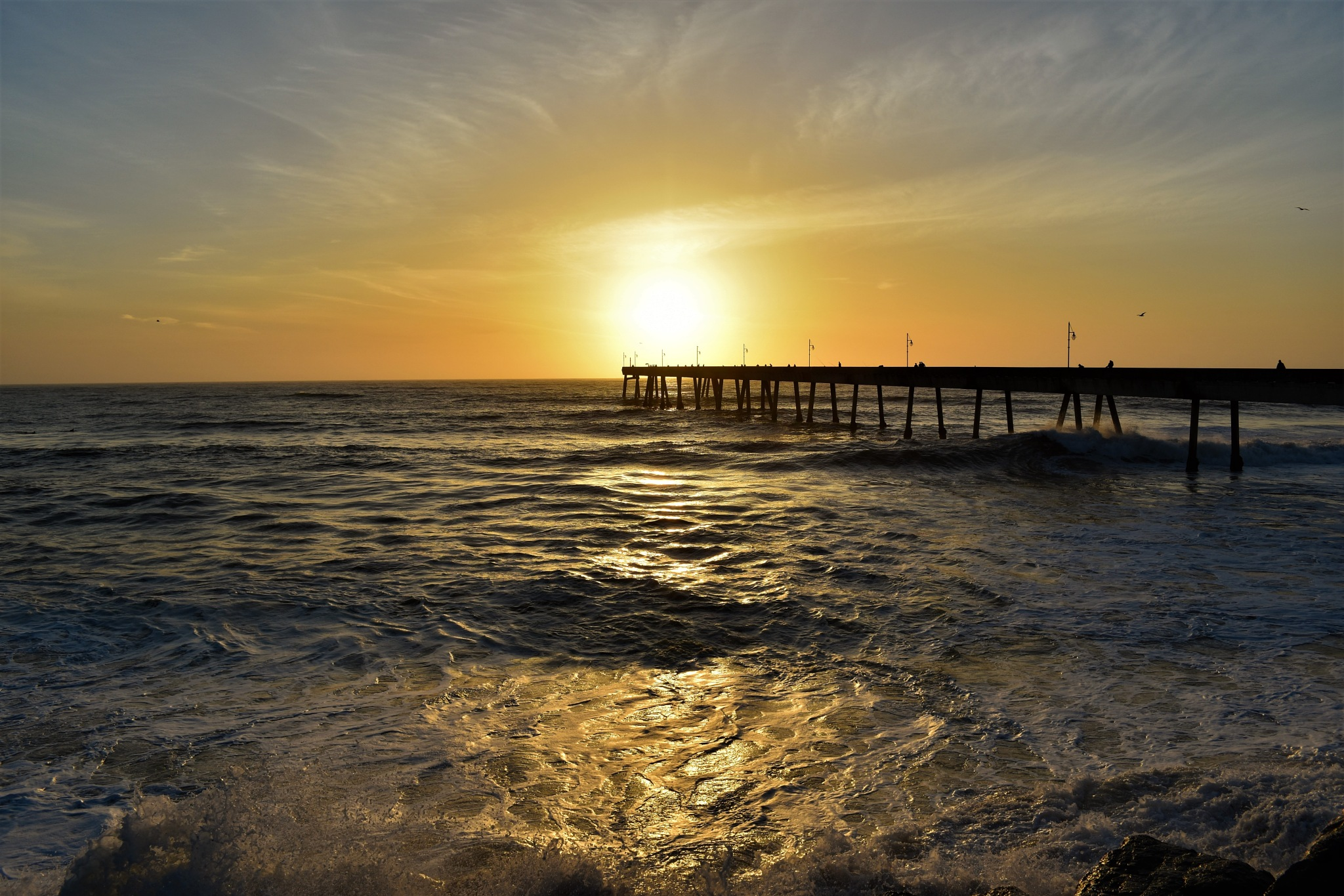 Sunset at the Pier by Gerard Francis Corbett