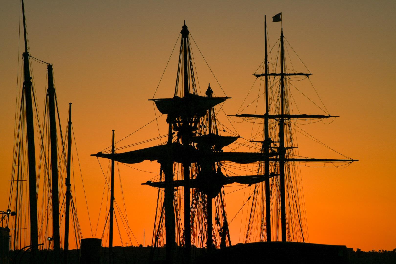 Sunset Masts by Gerard Francis Corbett