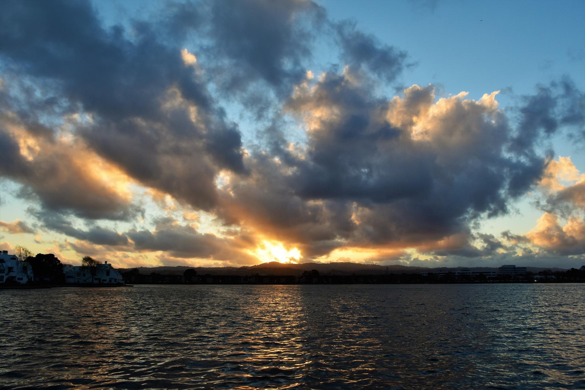 Photo in Landscape #sunset #fostercitylagoon #fostercity #westernridge #boatpark