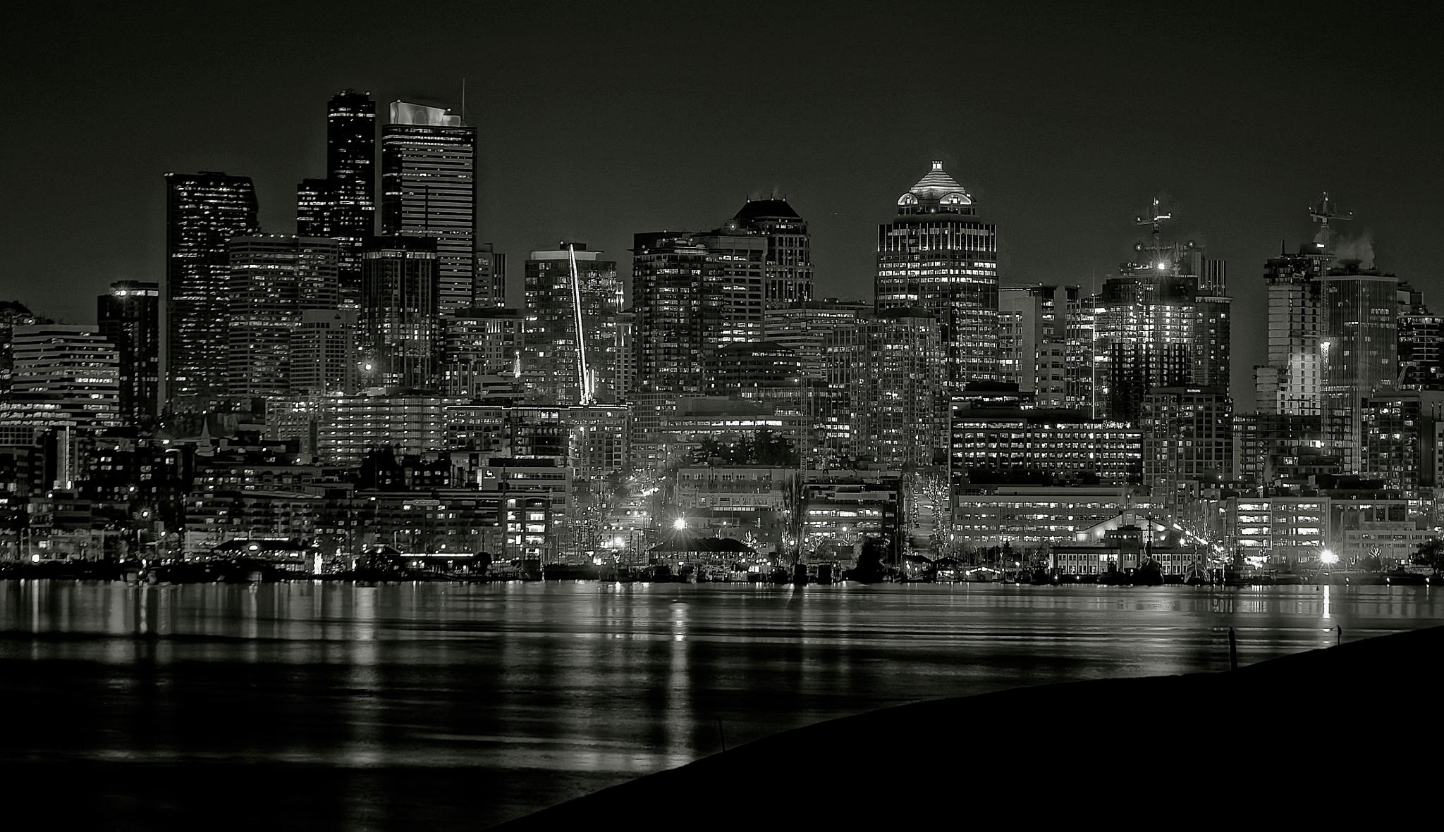 SEATTLE OVER LAKE UNION by orhidea images