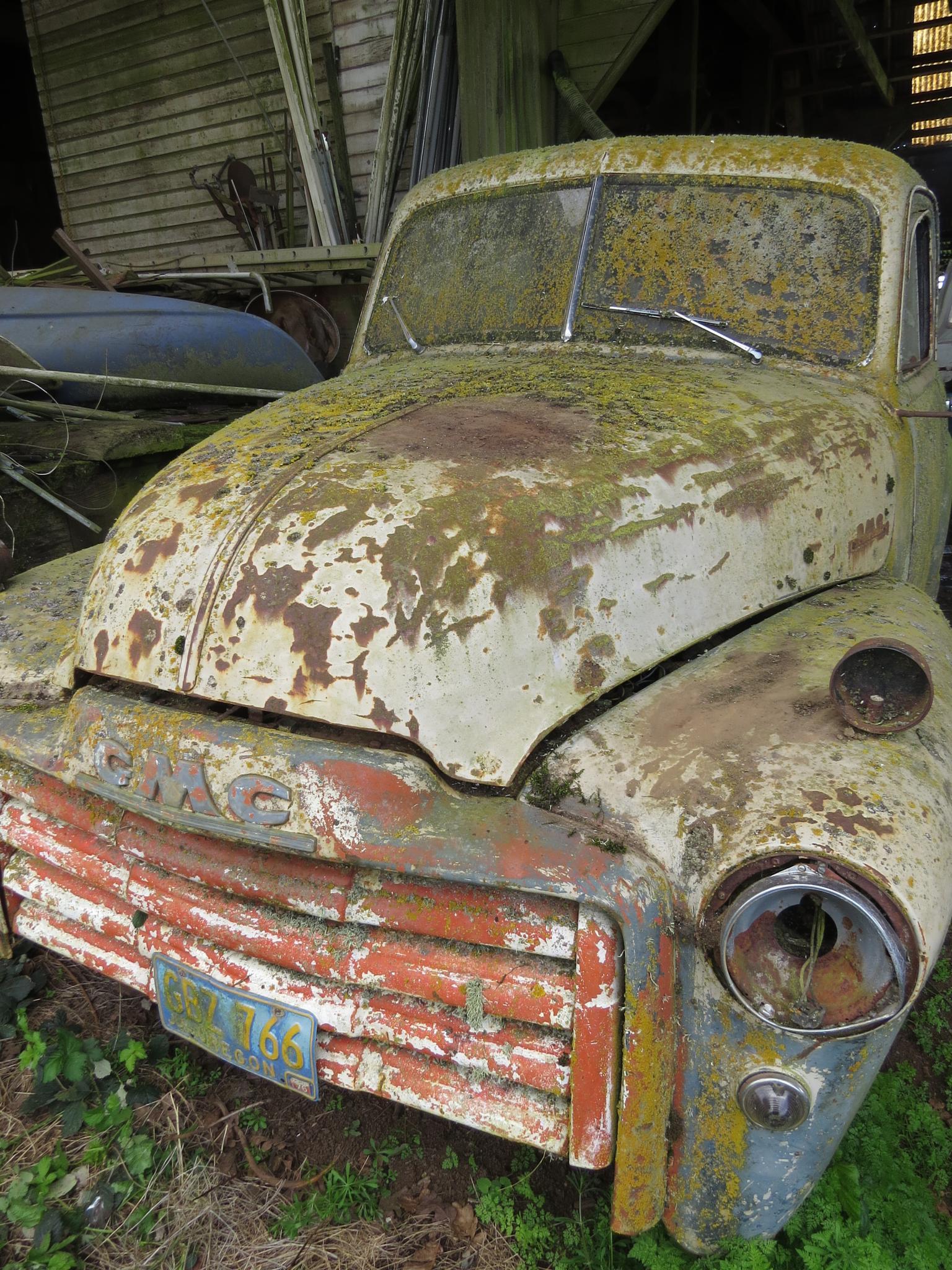 Old truck in barn by christine.rayburn.167