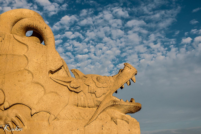 Photo in Urban #sunset #dragon #sky #gold #hungary