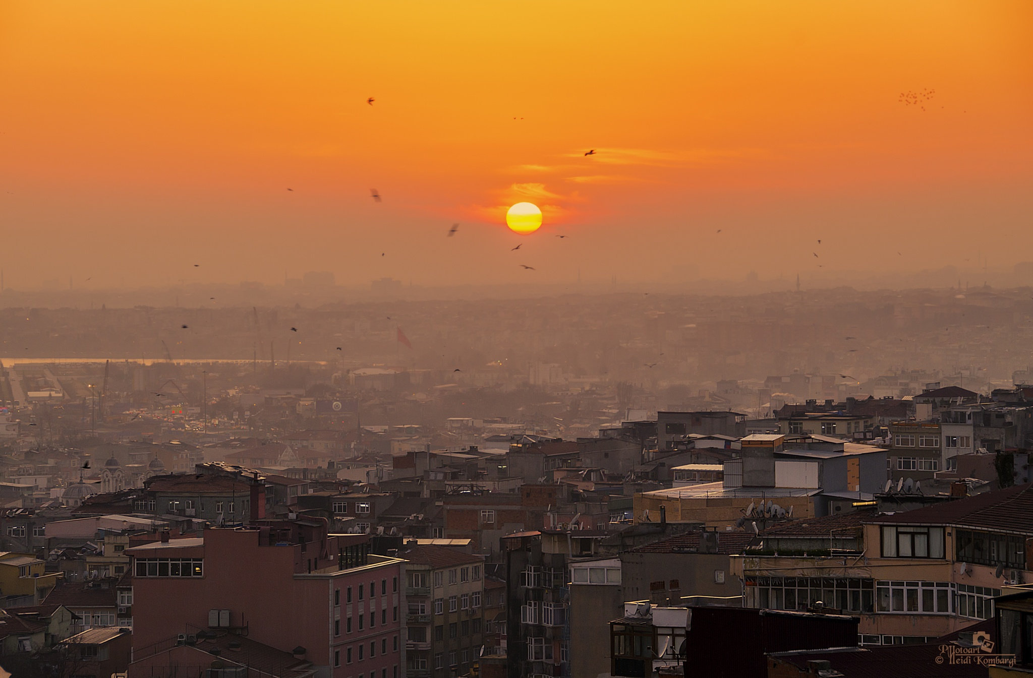 SUNSET OVER ISTANBUL by HeidiGK