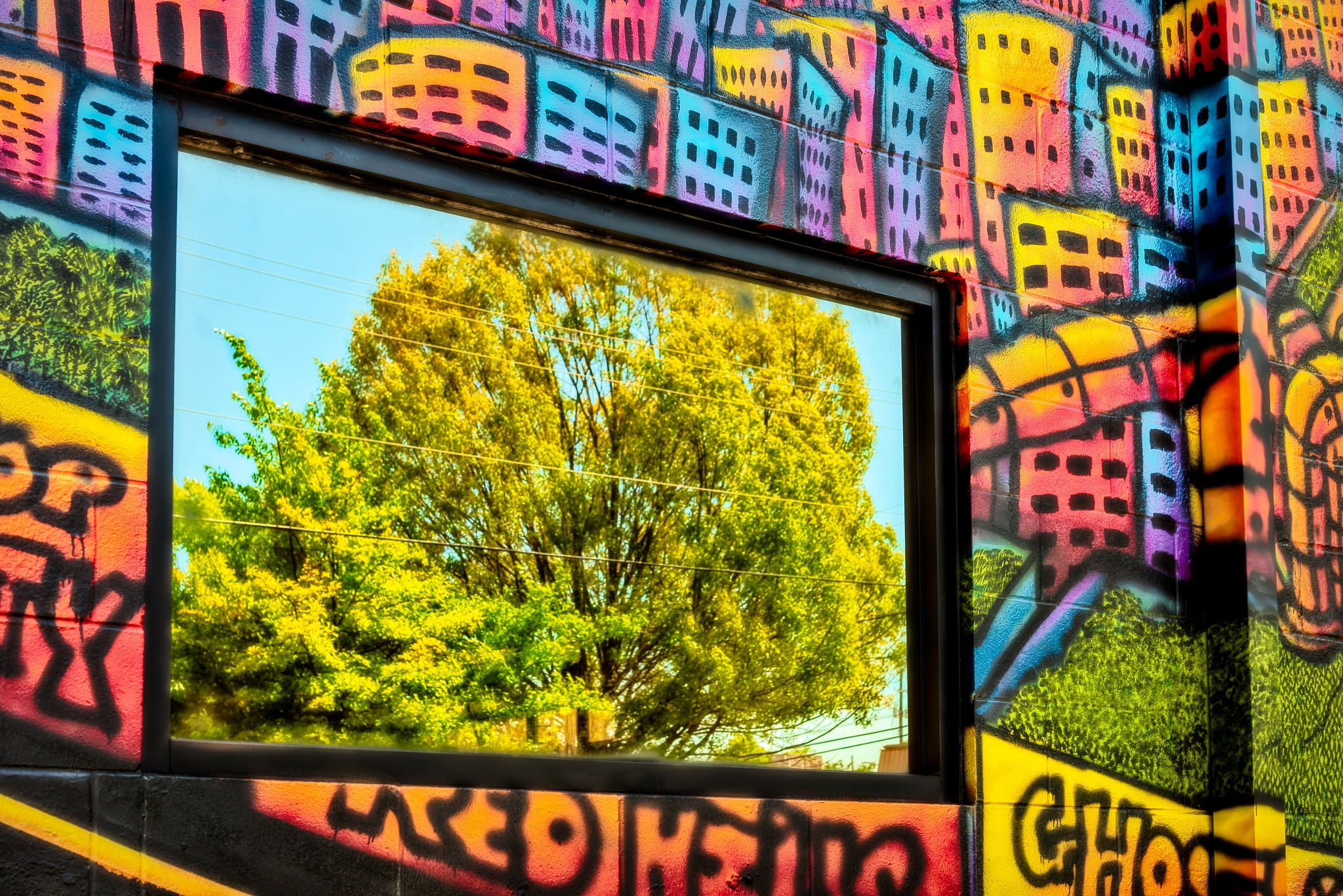 window reflection on a wall by Gerry Daniel
