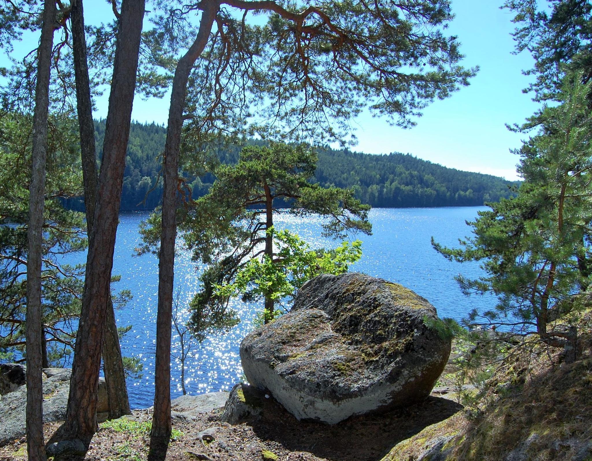 Evening at the lake by lillemor.ekstrom ek