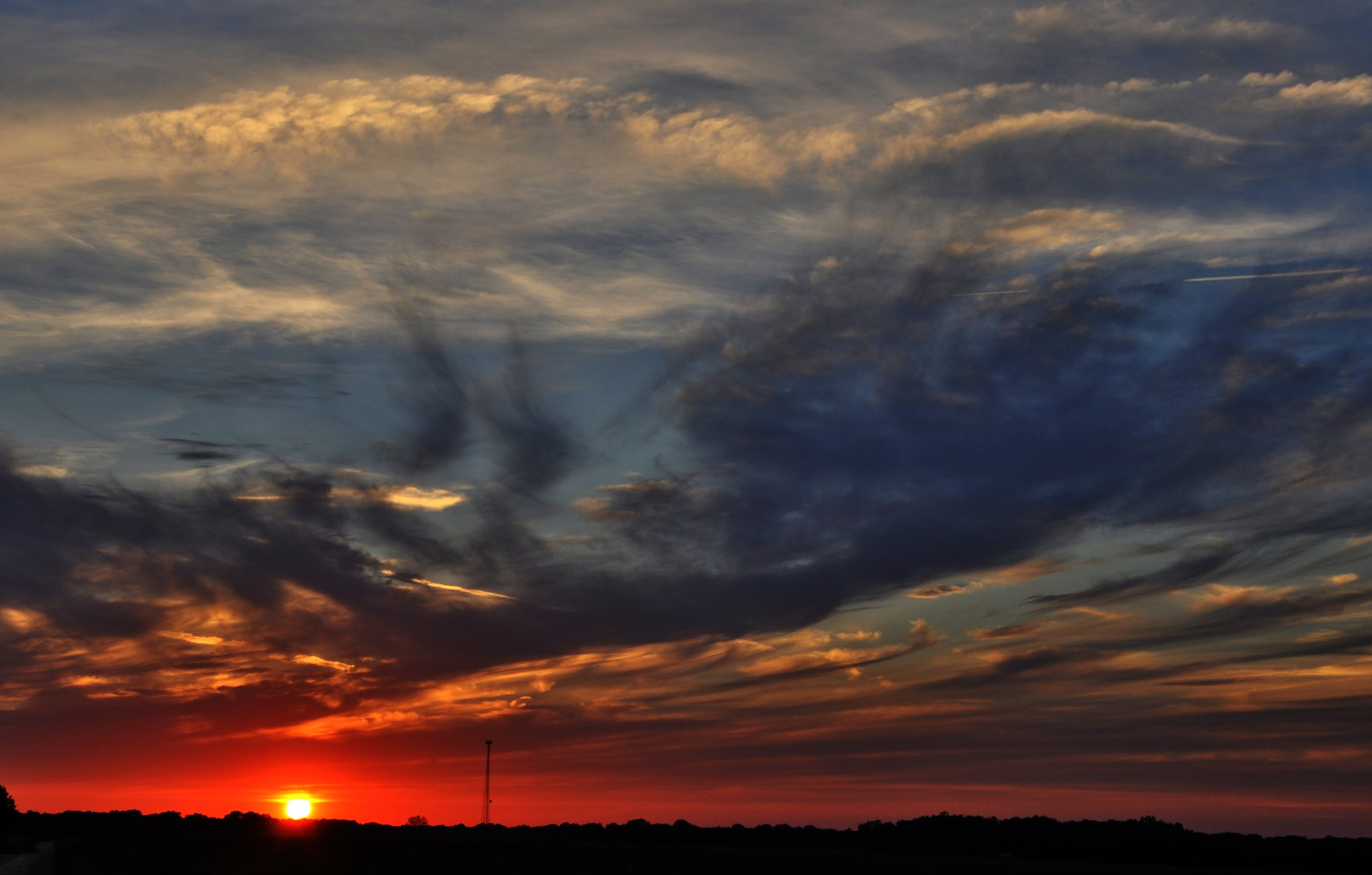 Red white and blue sunset. by debbylesko