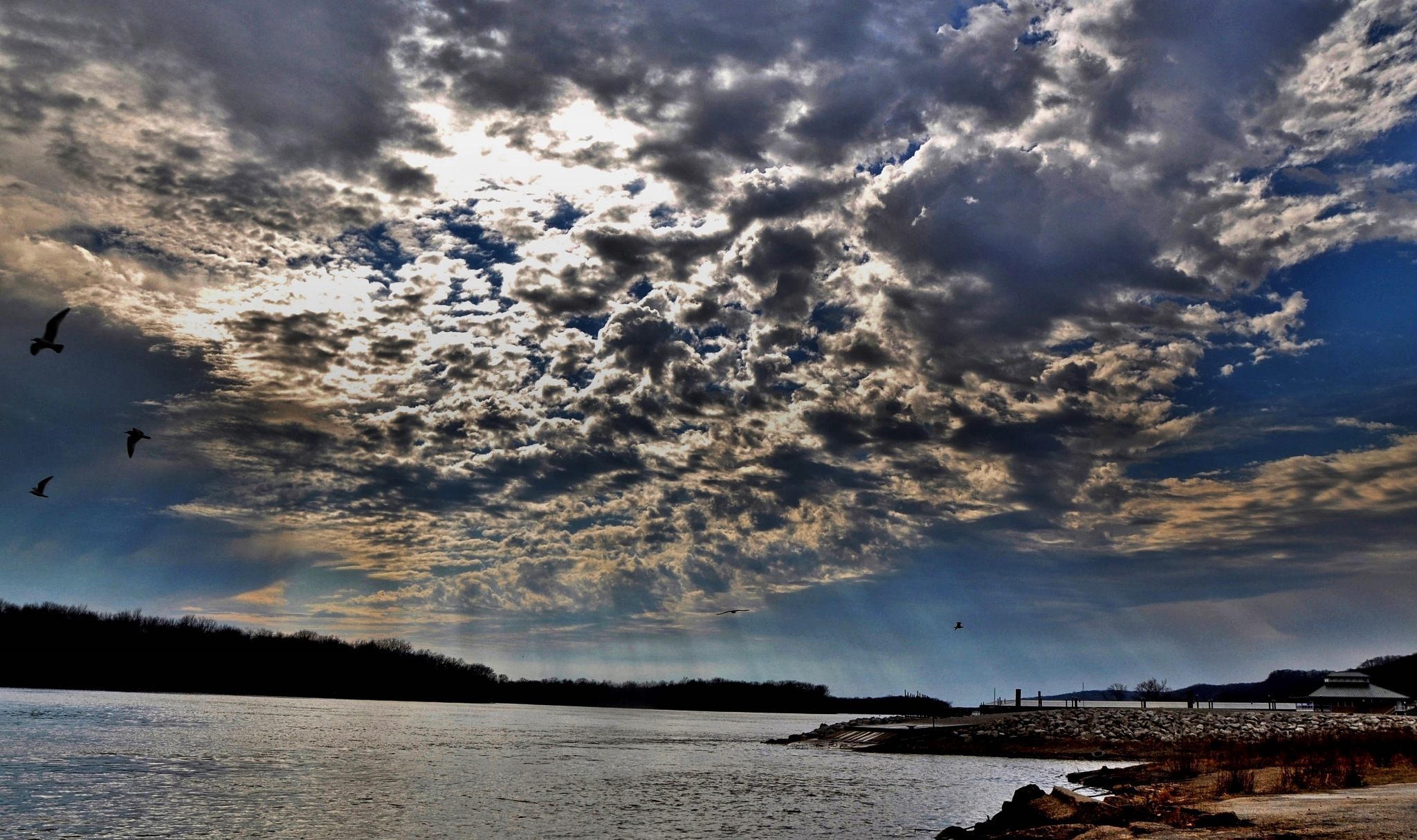Clouds at the Illinois river. by debbylesko