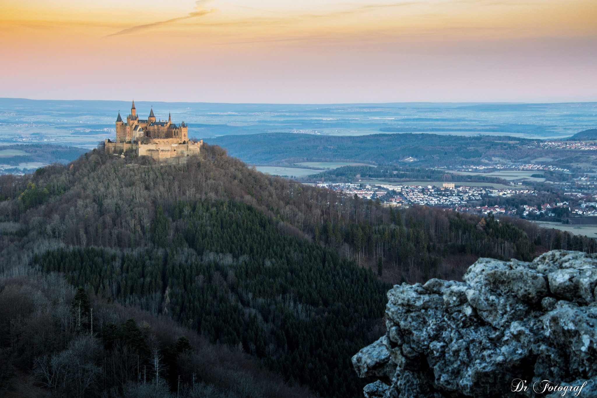 Sunrise at Hohenzollern Castle by DrFotograf