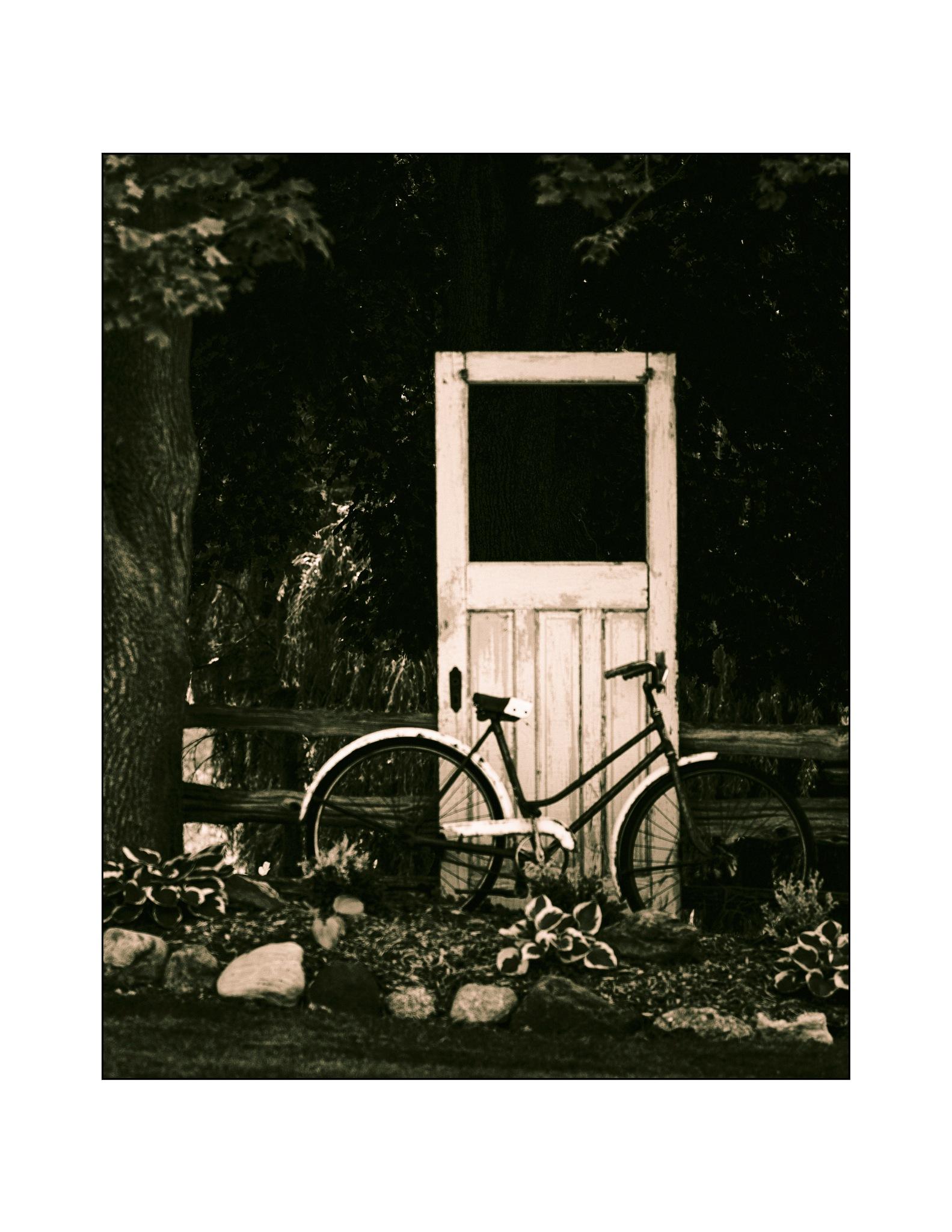 Bicycle & Door by jhulton