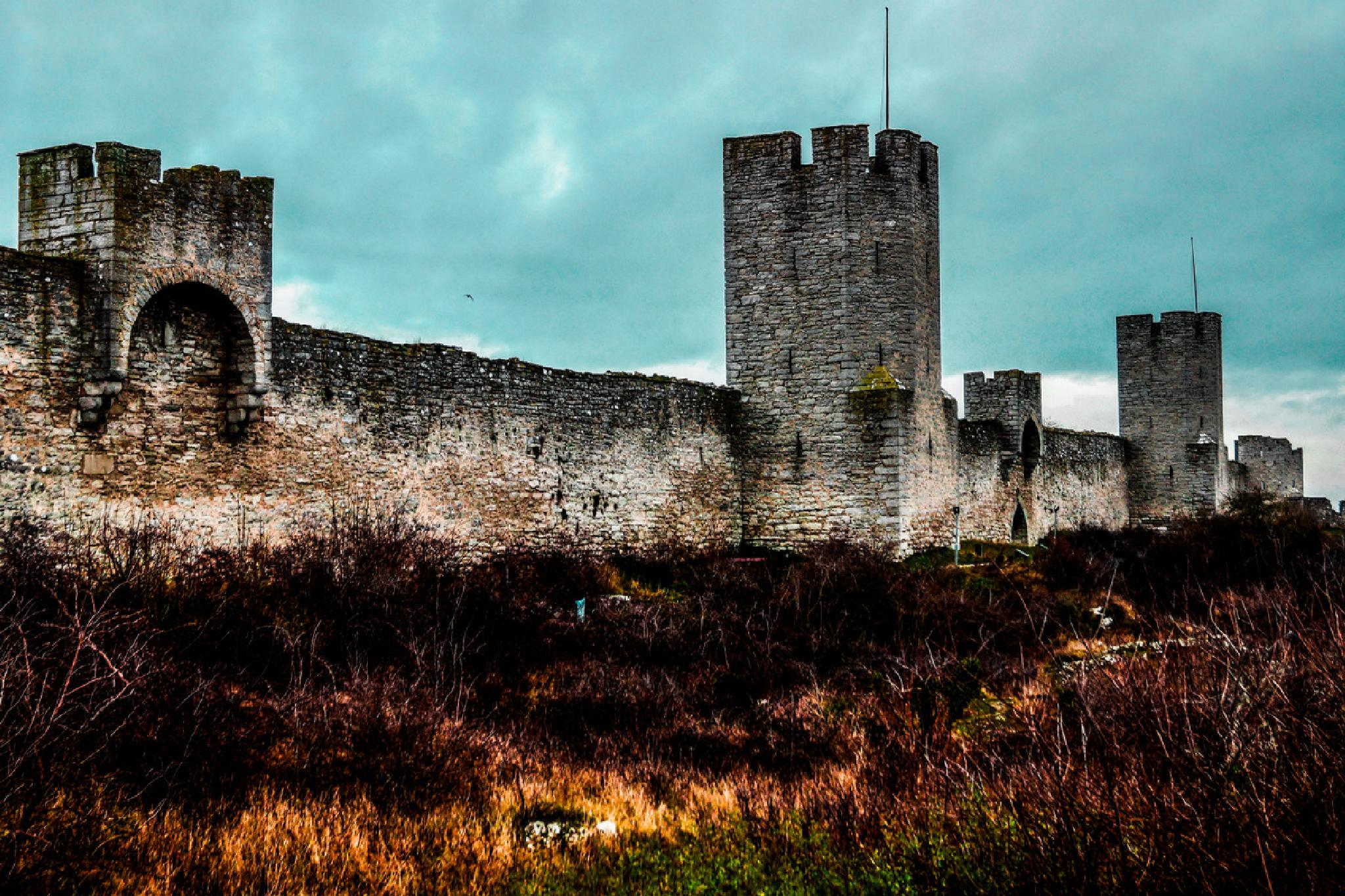 City wall around Visby by Jane.lindbladh