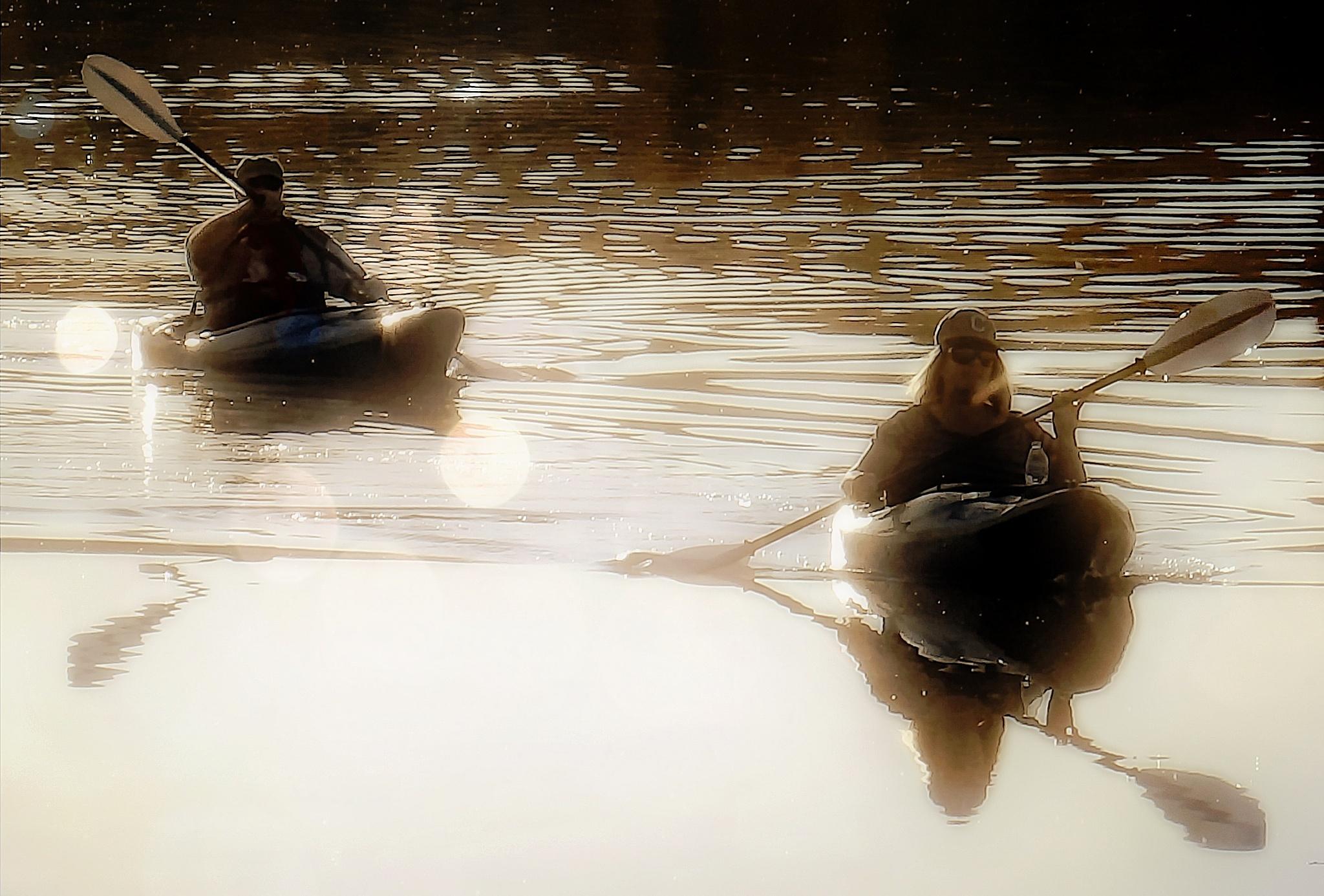 Kayaking by Darlene Eastin