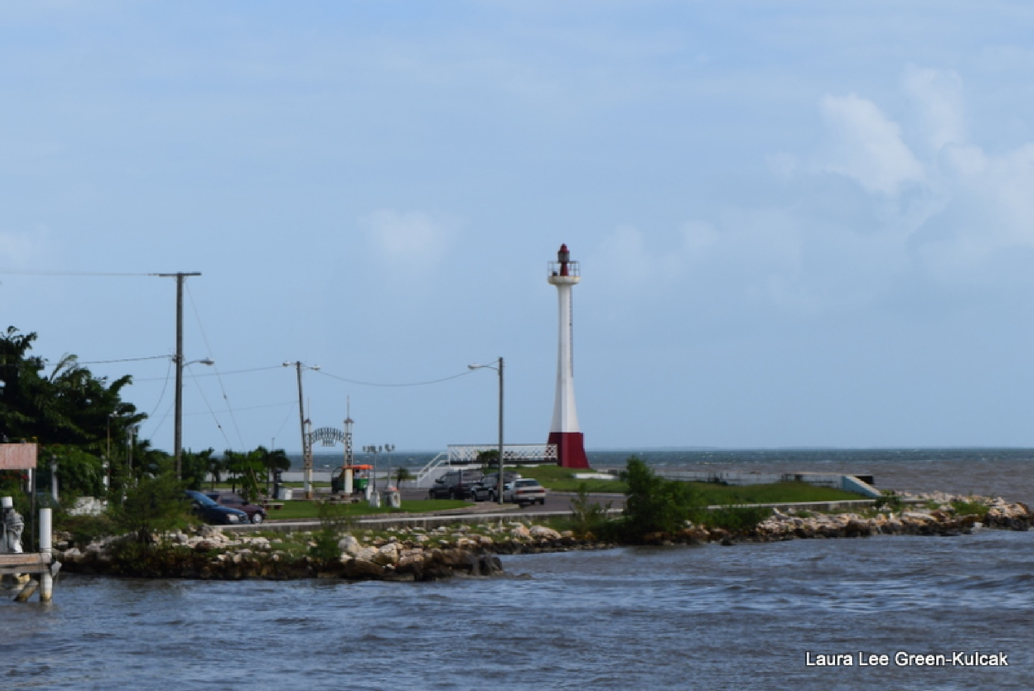 Lighthouse off of Belize by Laura Lee Green-Kulcak
