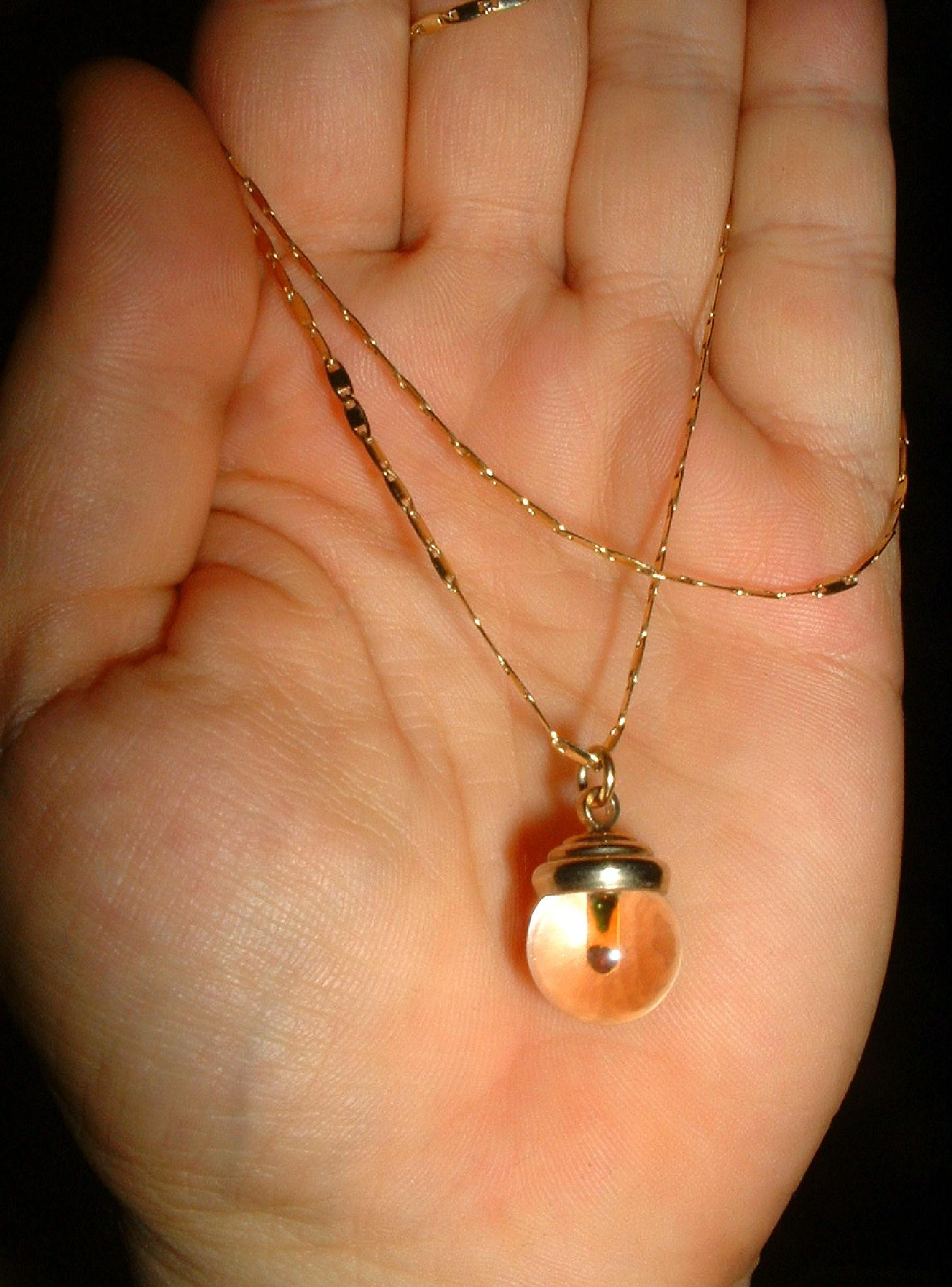 Antique Flint Mustard Seed Pendant/Necklace by kelly.zimmermanframe