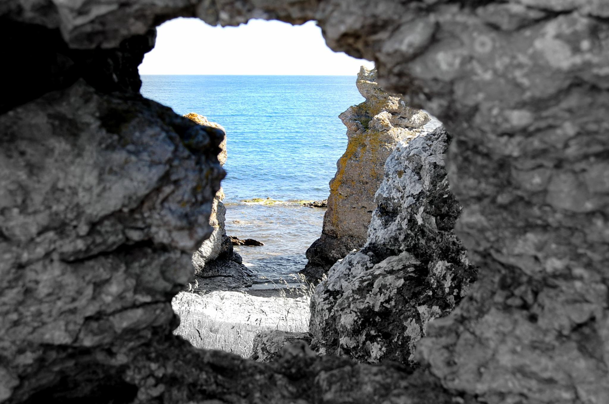 Limestone window by maja.e.olin