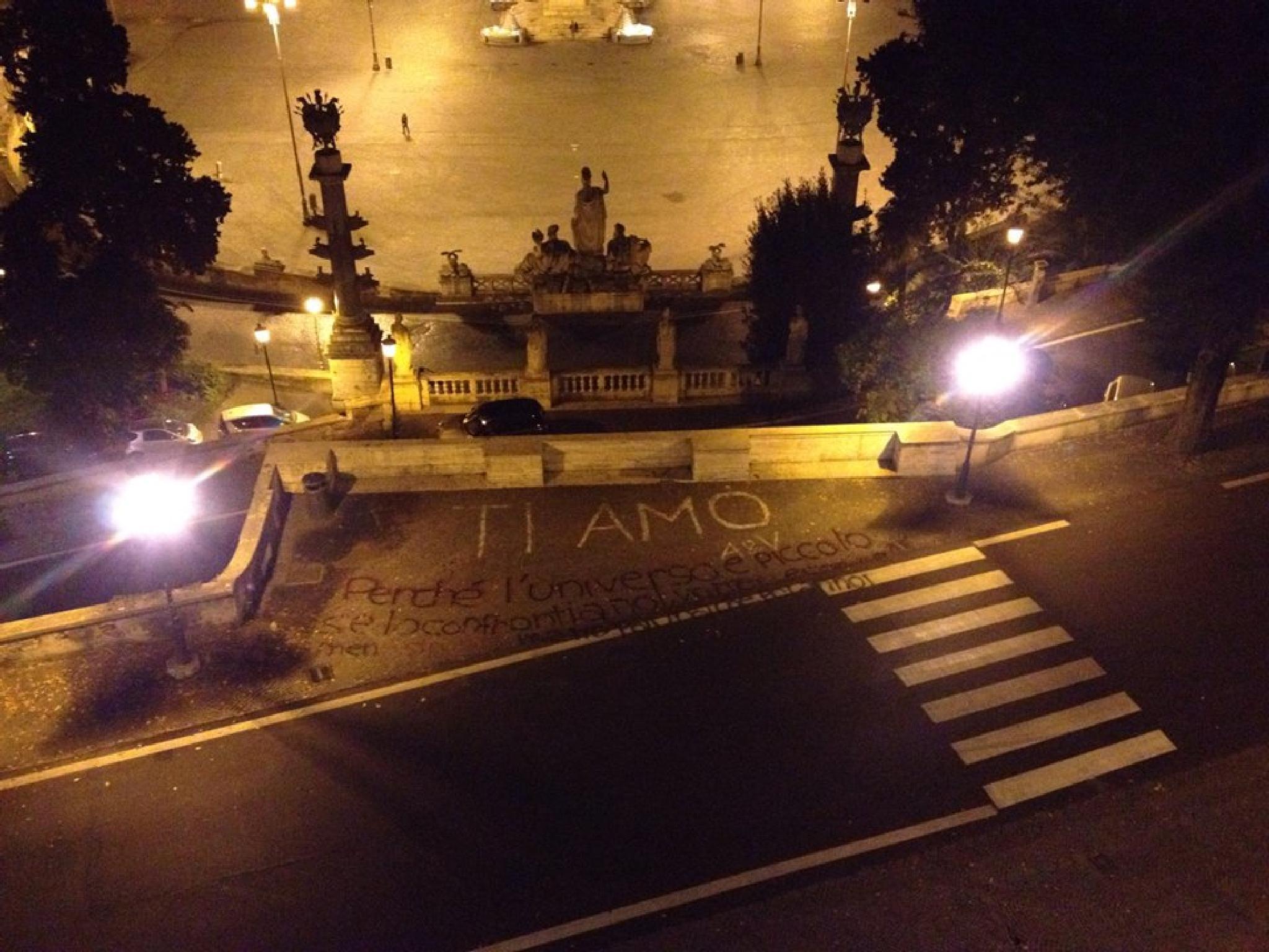 I love you, Pincio, Rome. by grossiroma