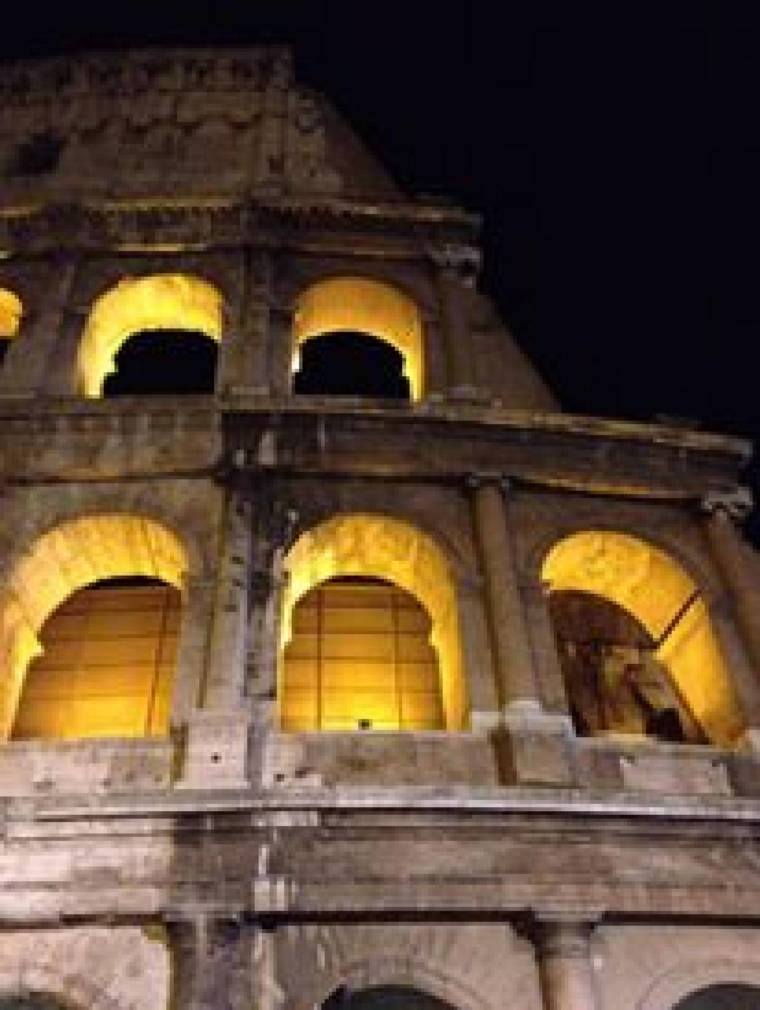 The Colosseum at night, Rome by grossiroma