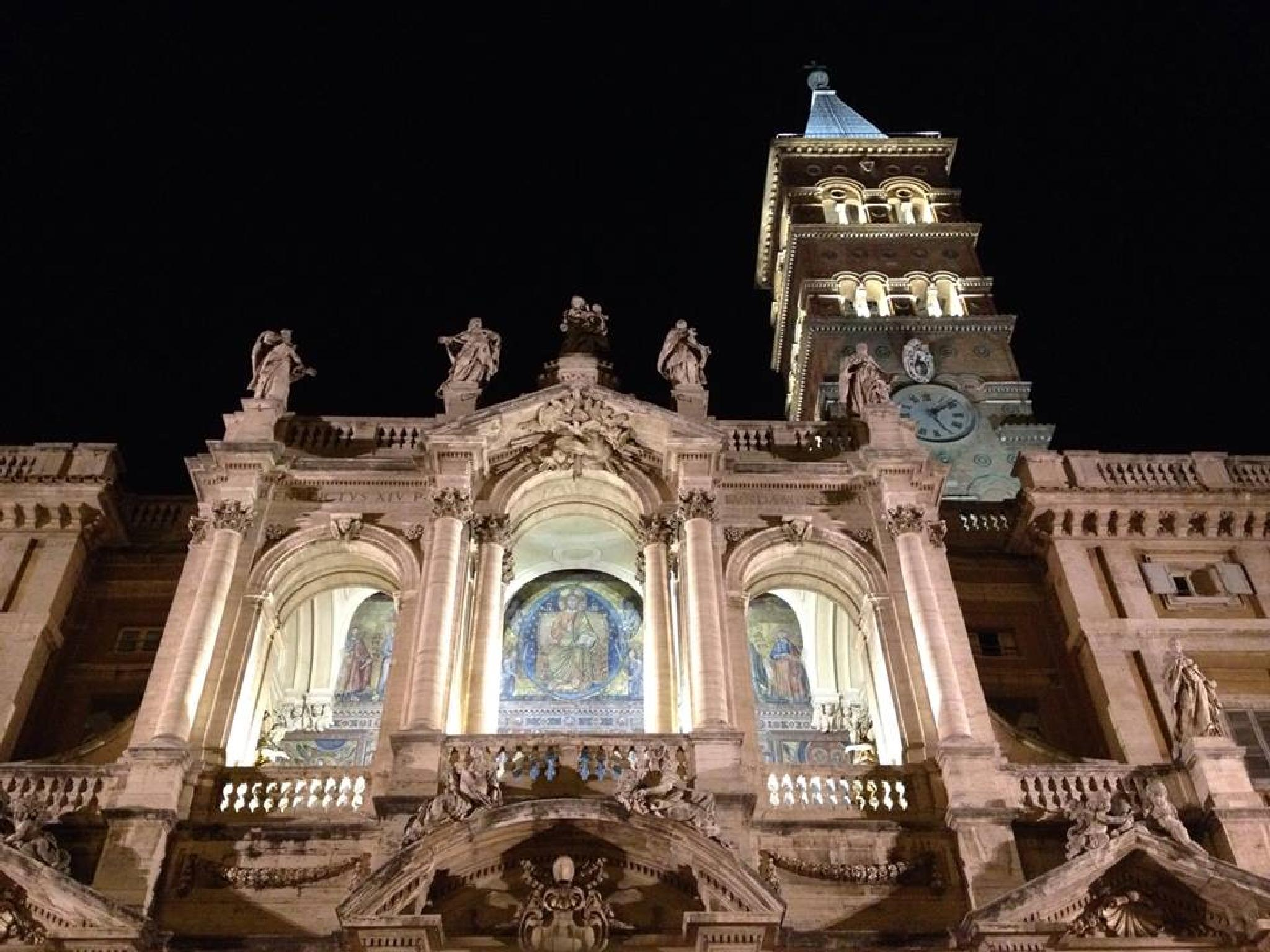The basilica at night by grossiroma