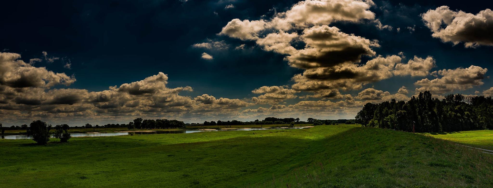 Photo in Landscape #landscape #elbauen #clouds #pano