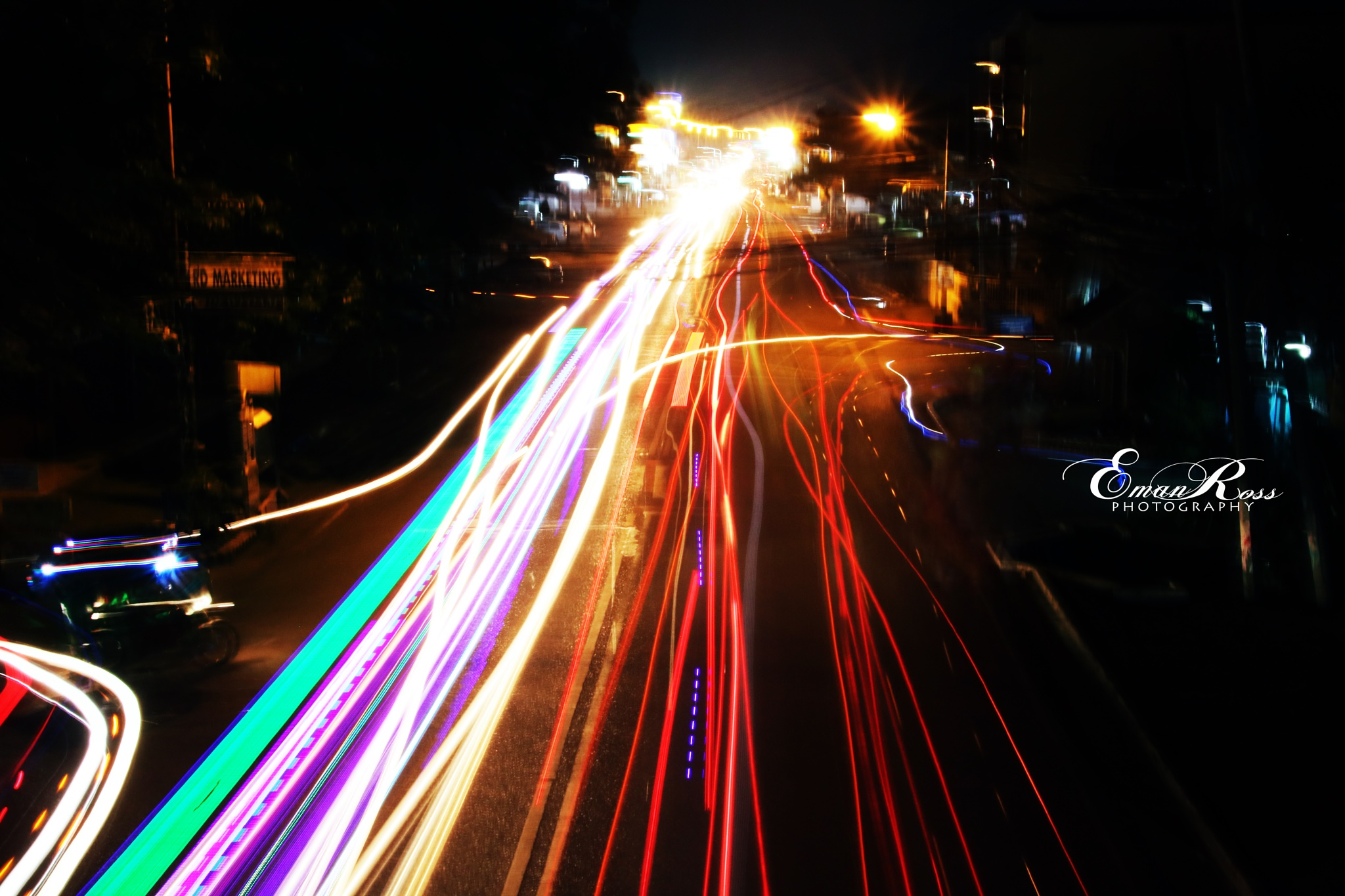Road at night by eross